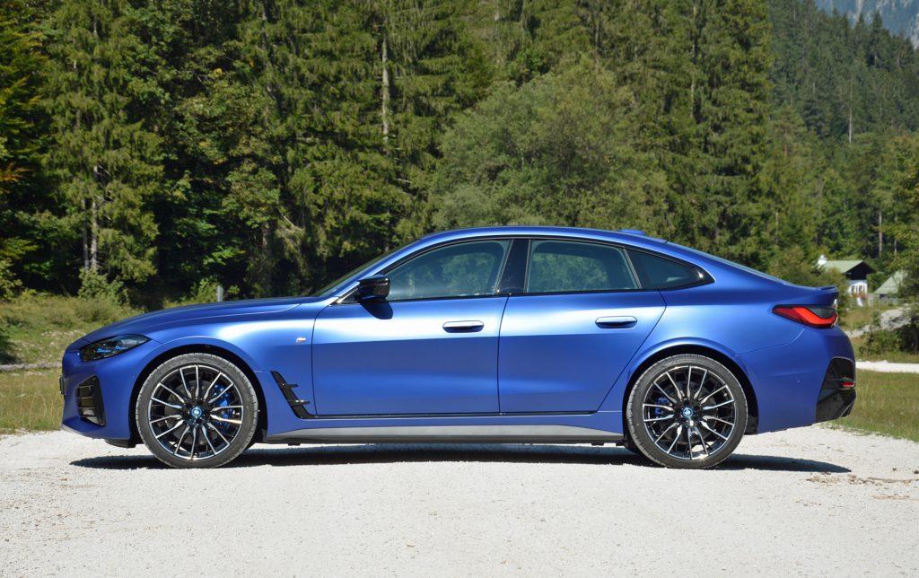 2022 BMW i4 M50 side profile