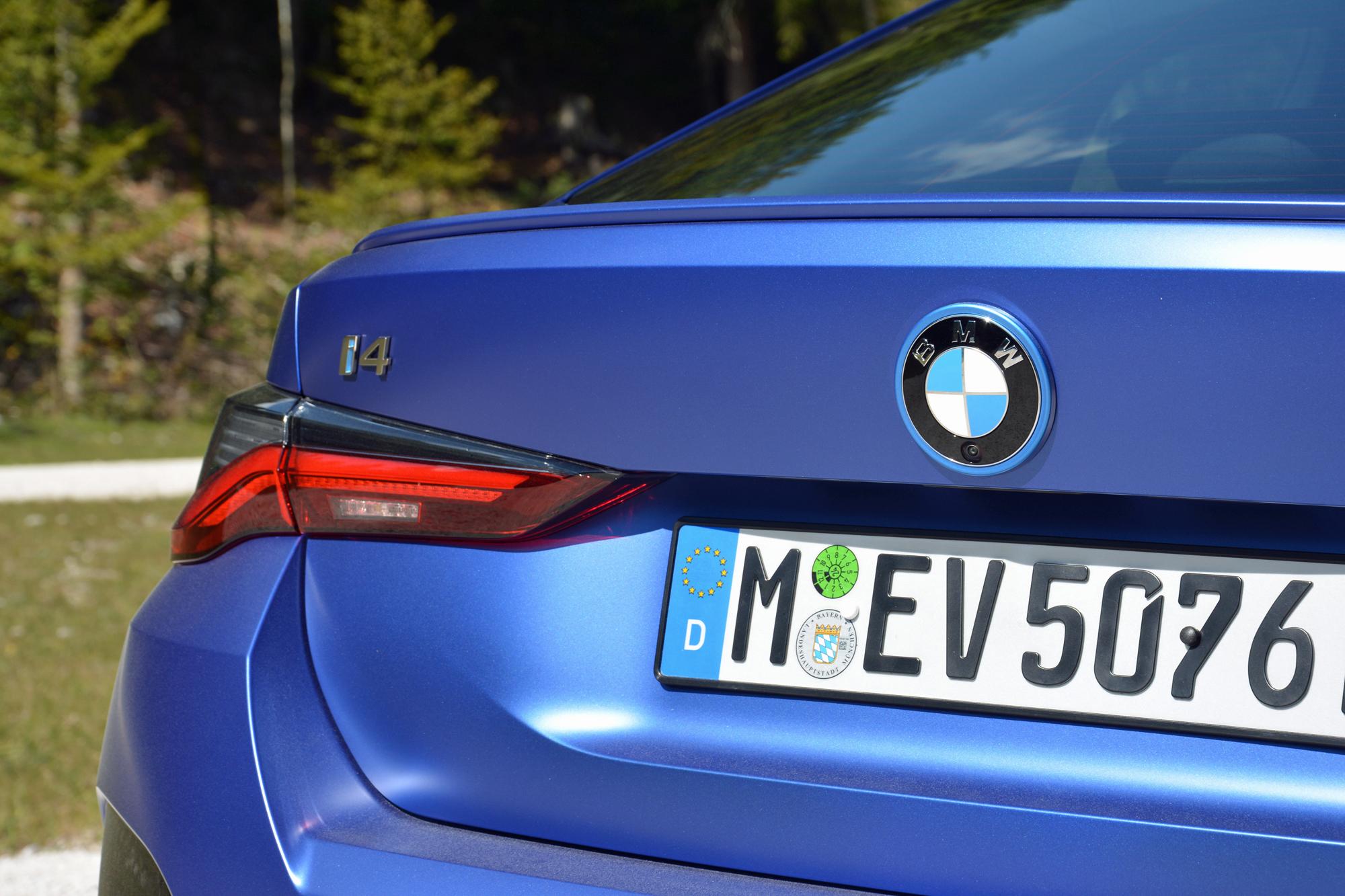 2022 BMW i4 M50 rear close