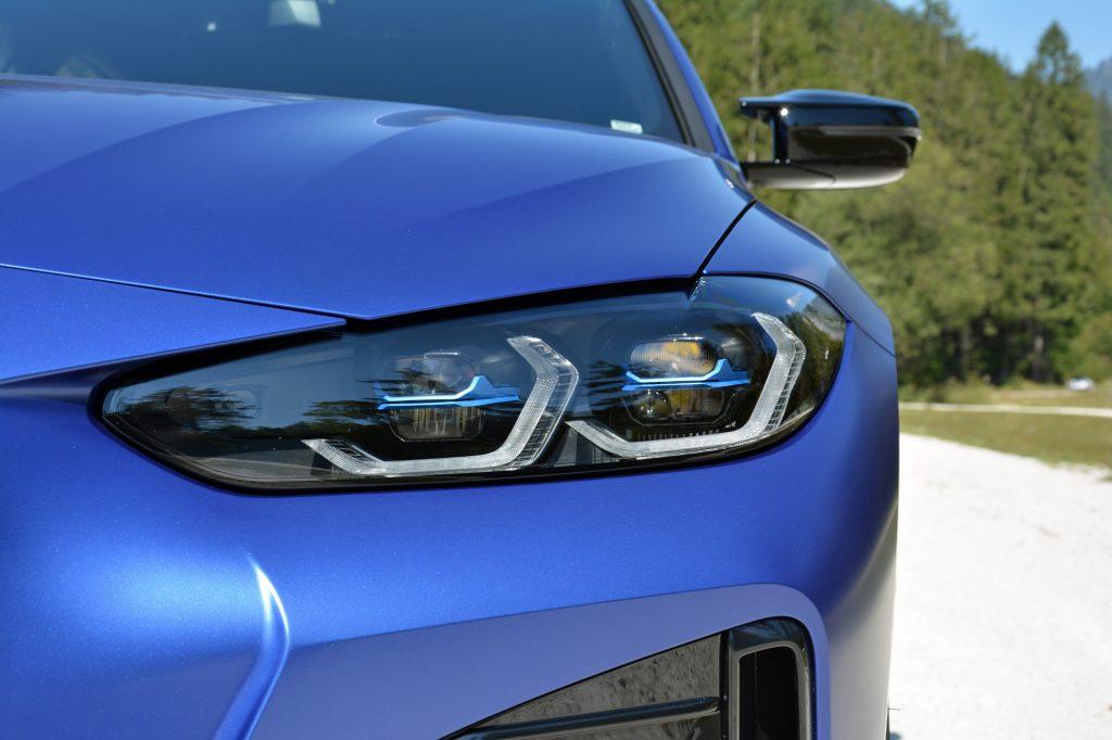 2022 BMW i4 M50 headlight lines