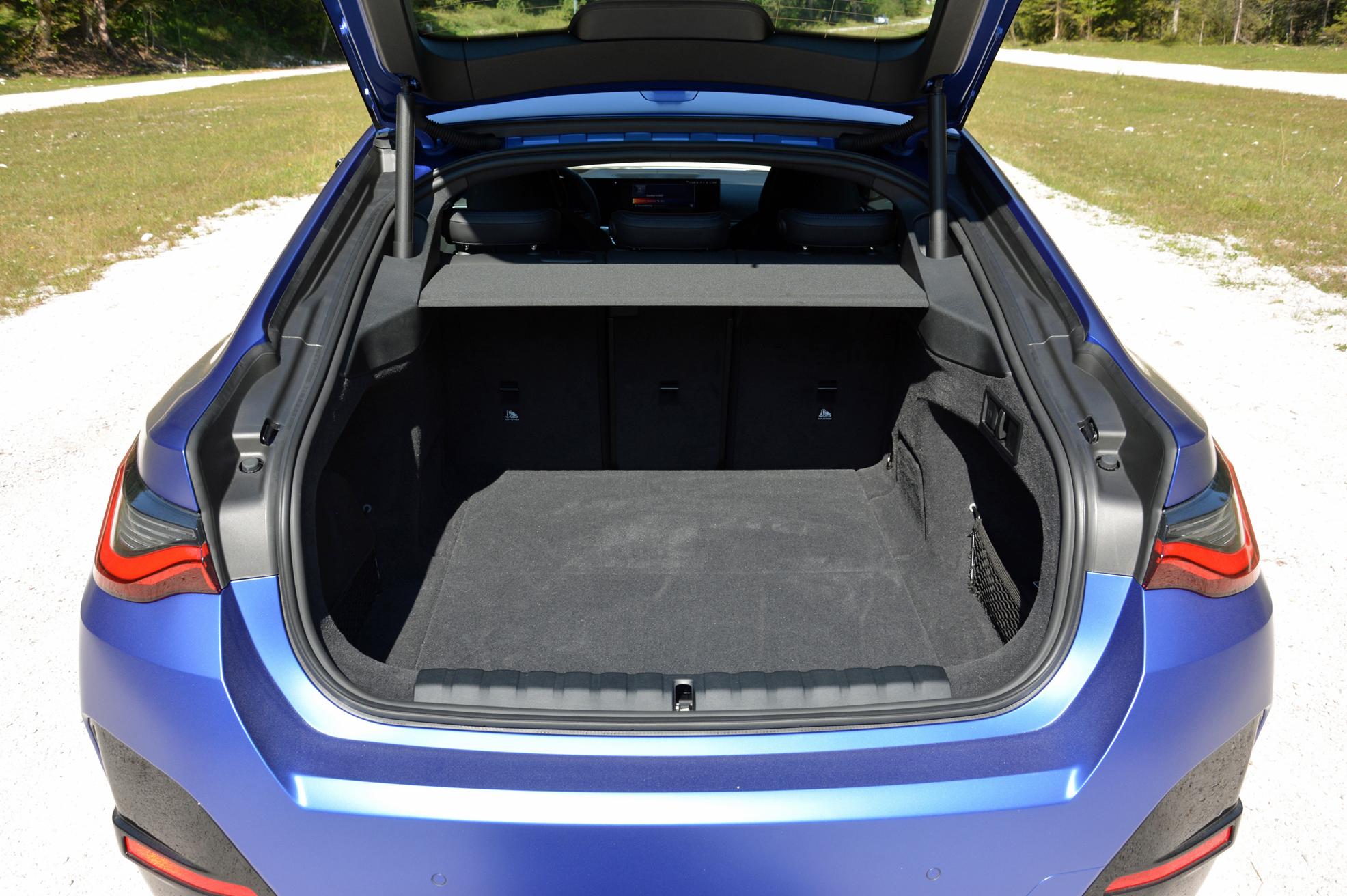 2022 BMW i4 M50 trunk volume