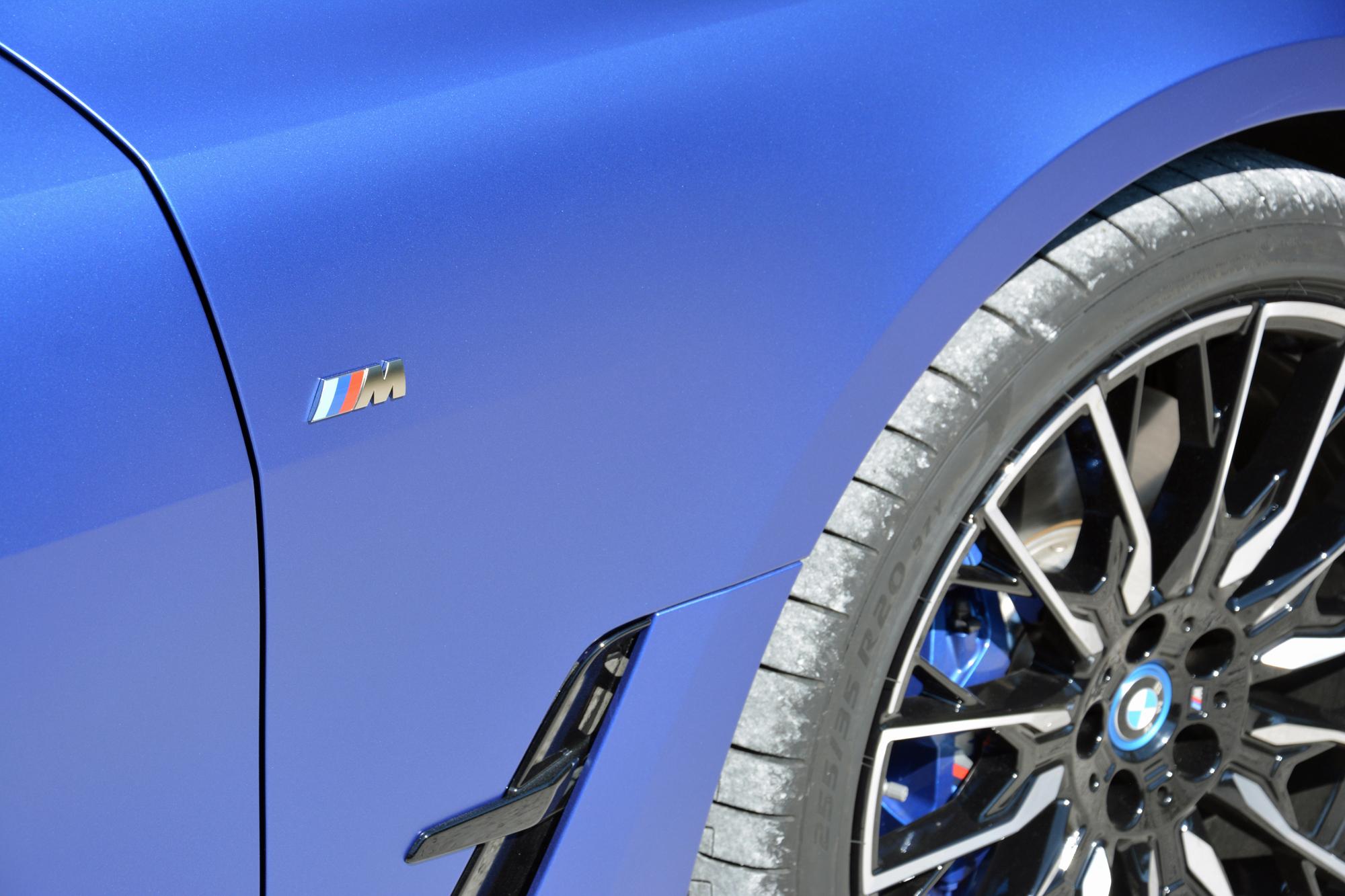 2022 BMW i4 M50 front quarter panel