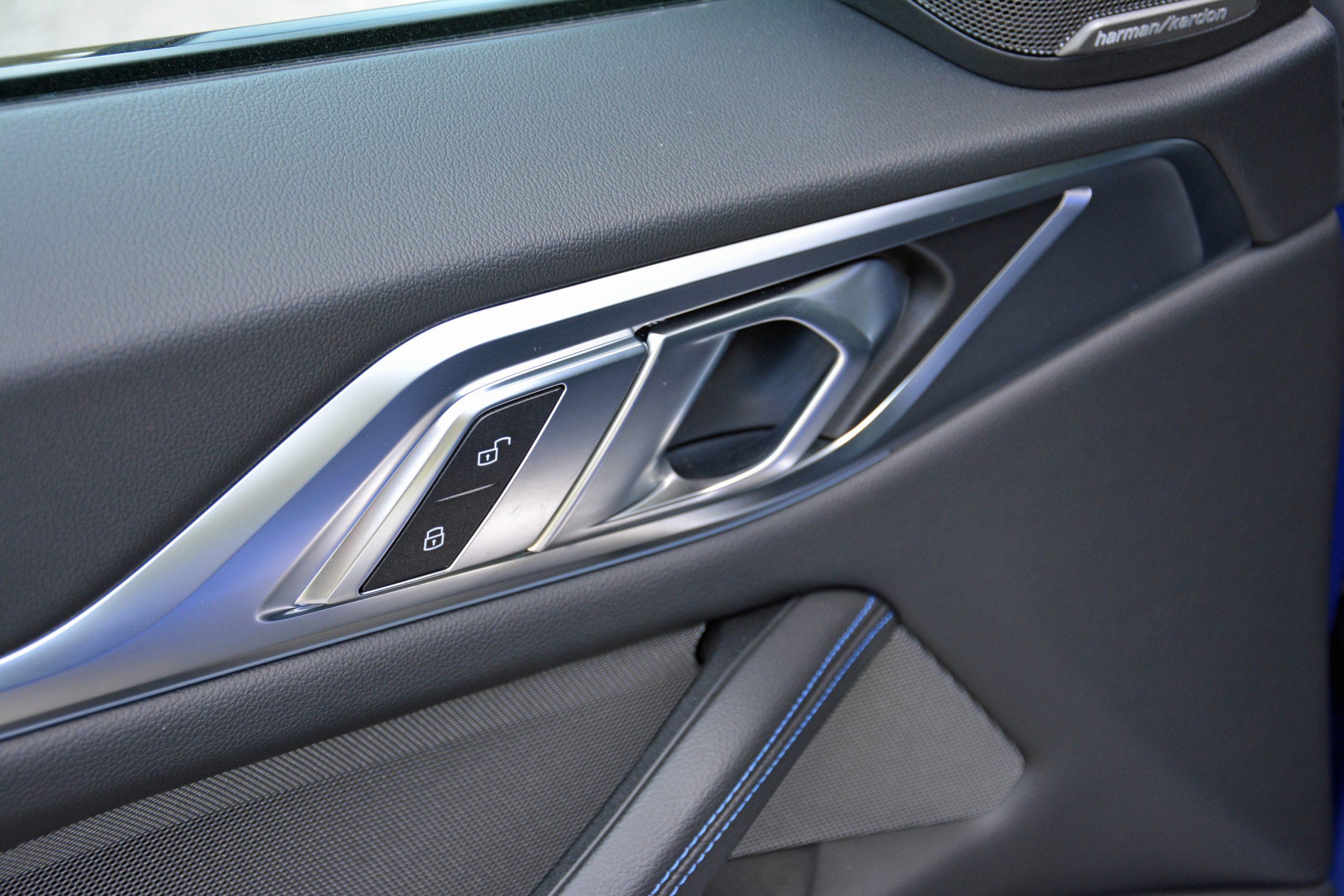 2022 BMW i4 M50 interior door handle details