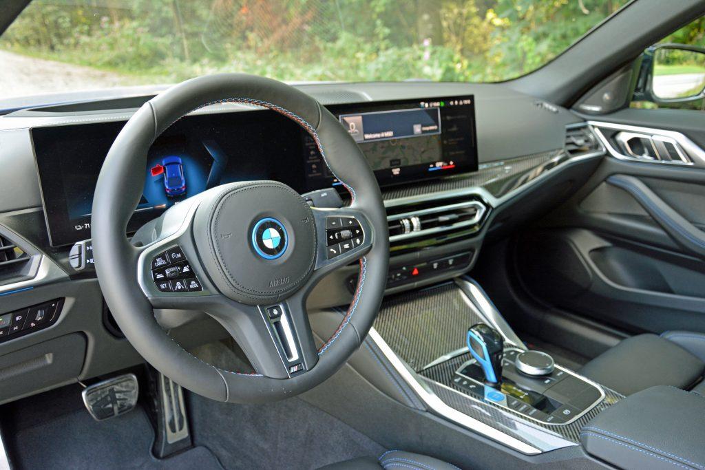 2022 BMW i4 M50 interior front angle