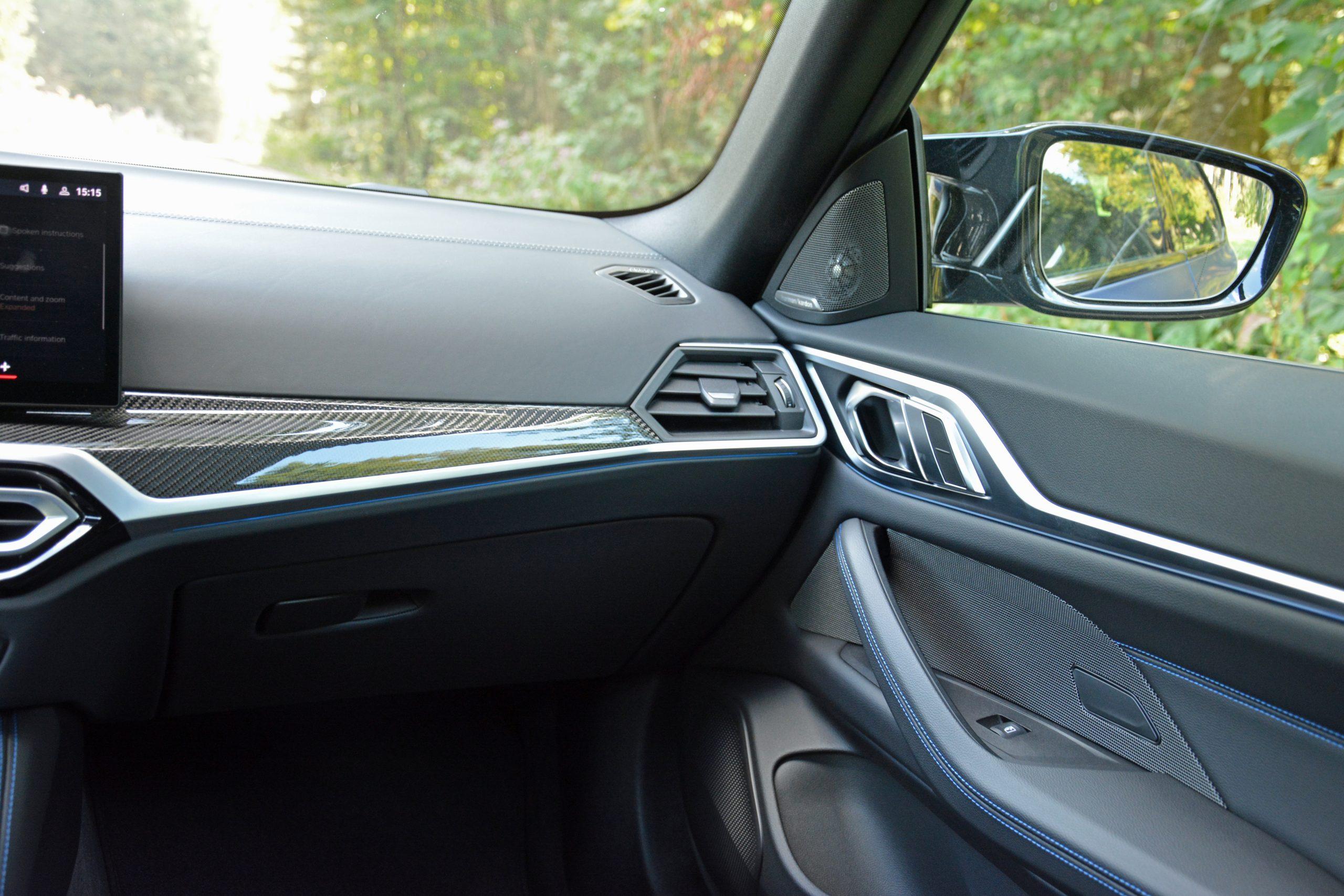 2022 BMW i4 M50 interior passenger side