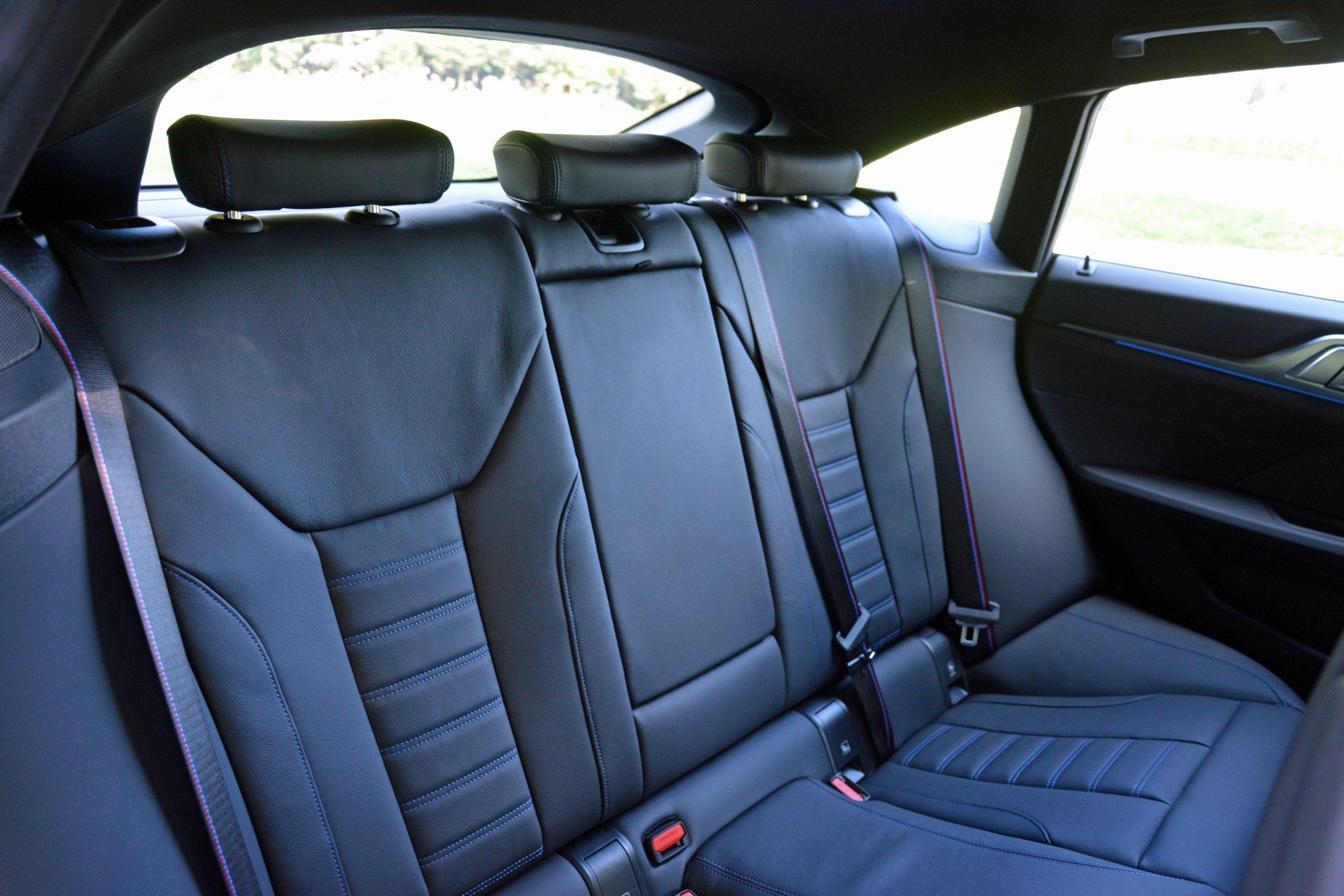 2022 BMW i4 M50 interior rear seats