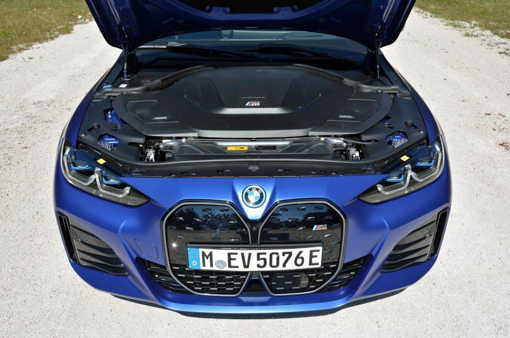 2022 BMW i4 M50 engine bay
