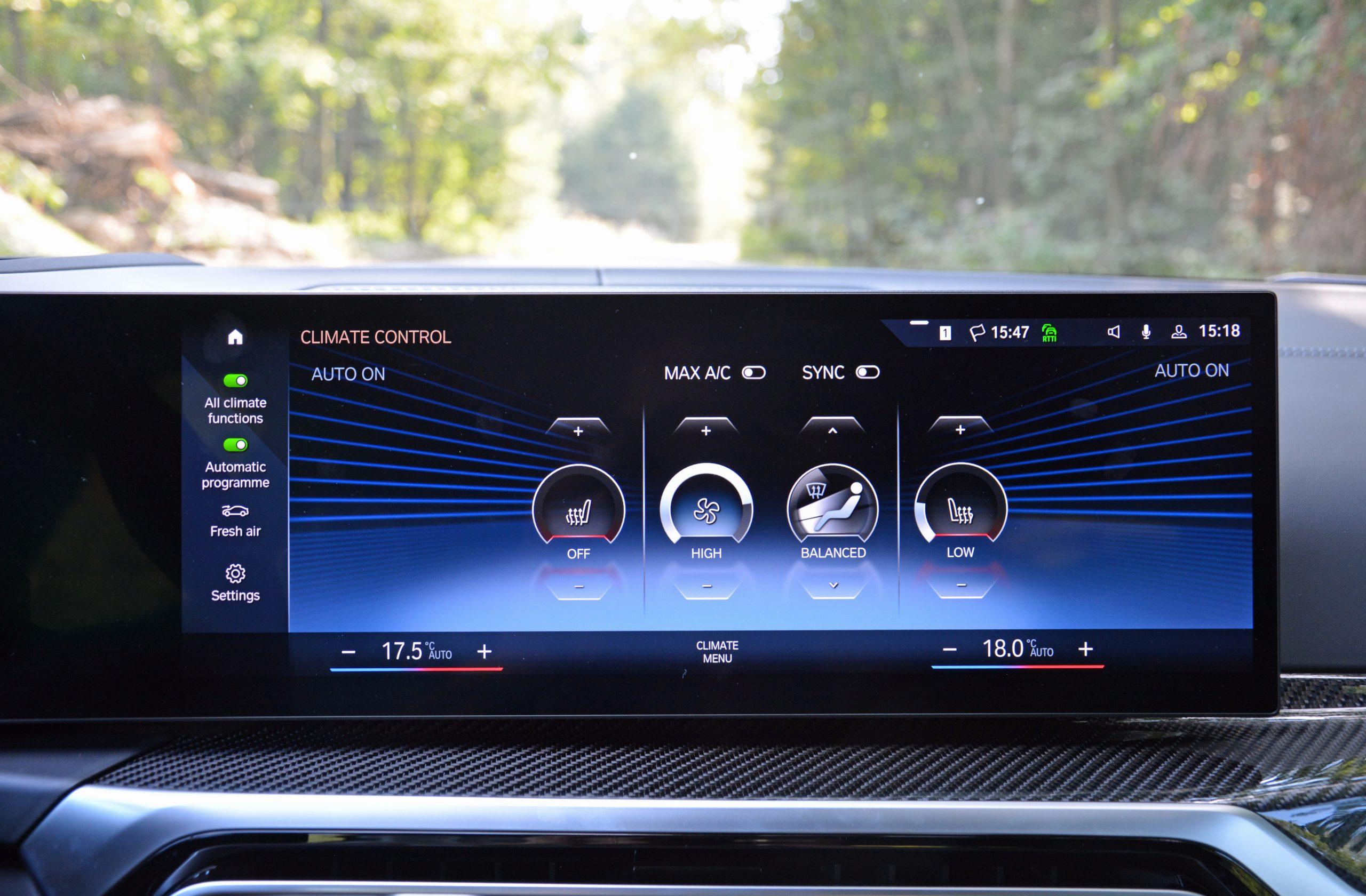 2022 BMW i4 M50 interior infotainment climate controls