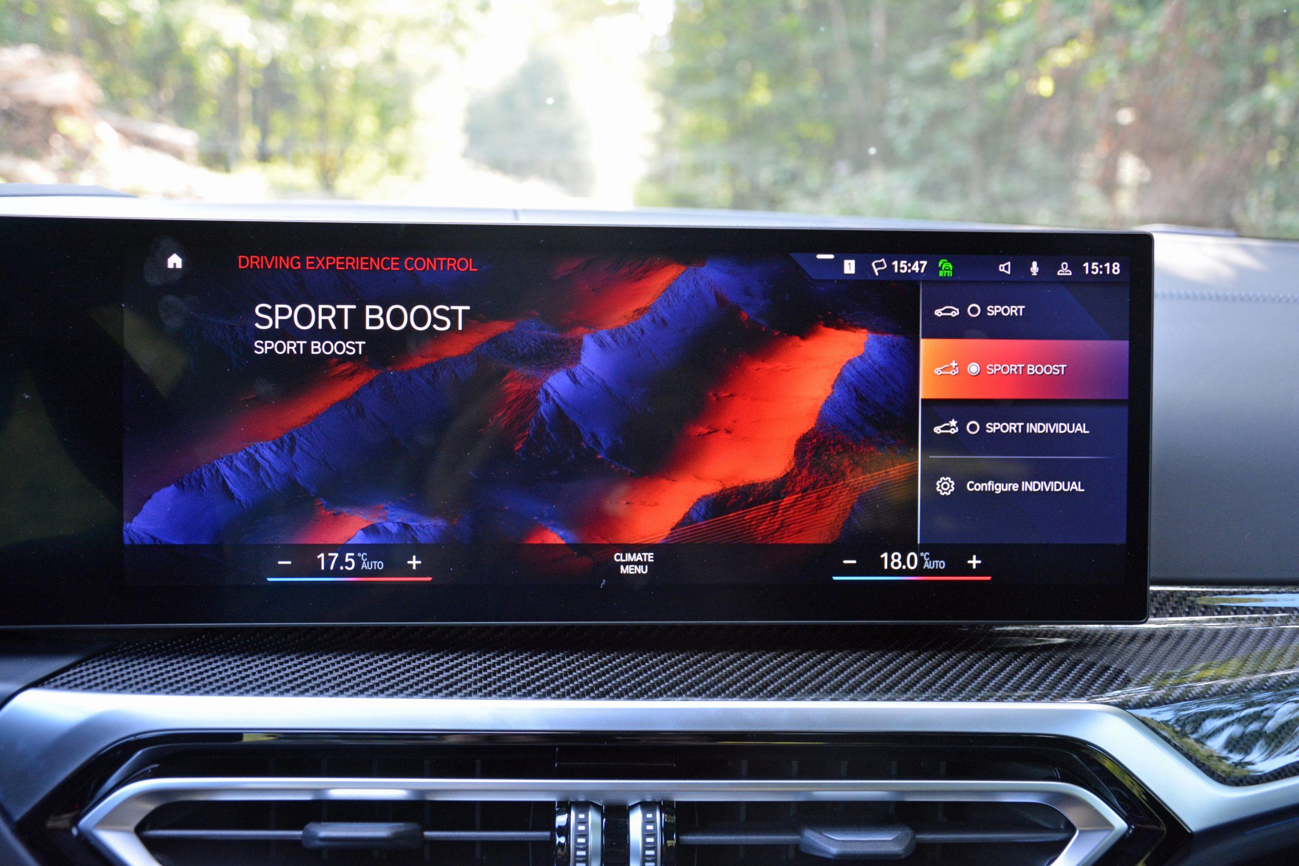 2022 BMW i4 M50 interior infotainment drive modes