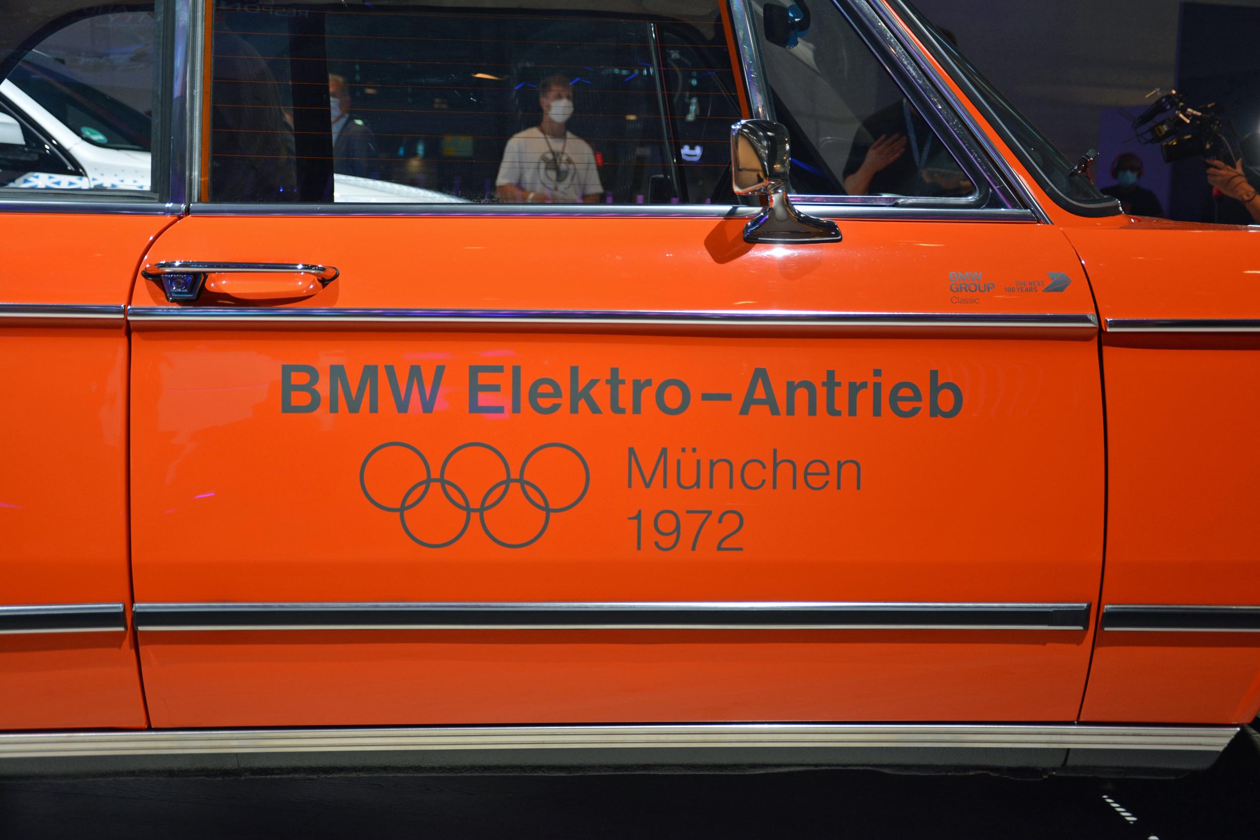 1972 BMW 1602 electric car door panel graphic