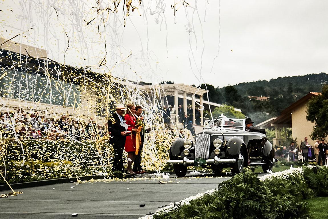 The 2016 Pebble Beach Concours d'Elegance winner is this 1936 Lancia Astura Pinin Farina Cabriolet.