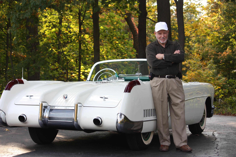 Joseph Bortz with the 1953 Buick Wildcat I concept