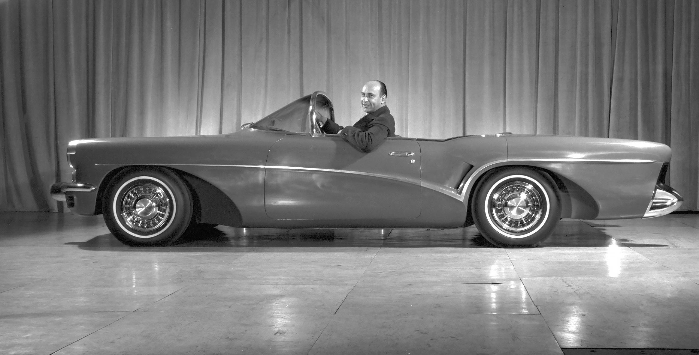 Ned Nickles in the Buick Wildcat III Concept