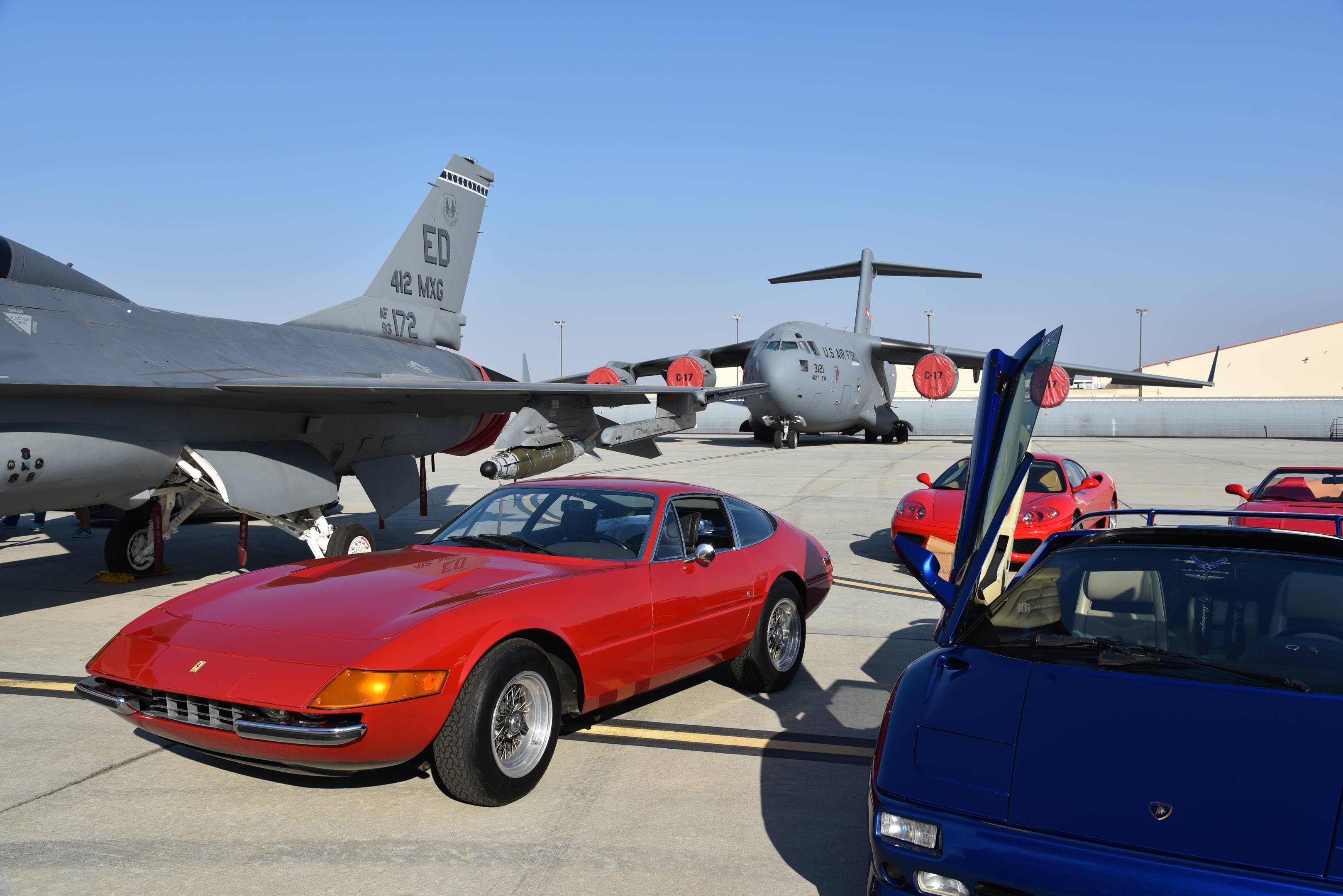 red ferrari gtb/4 daytona edwards air force base