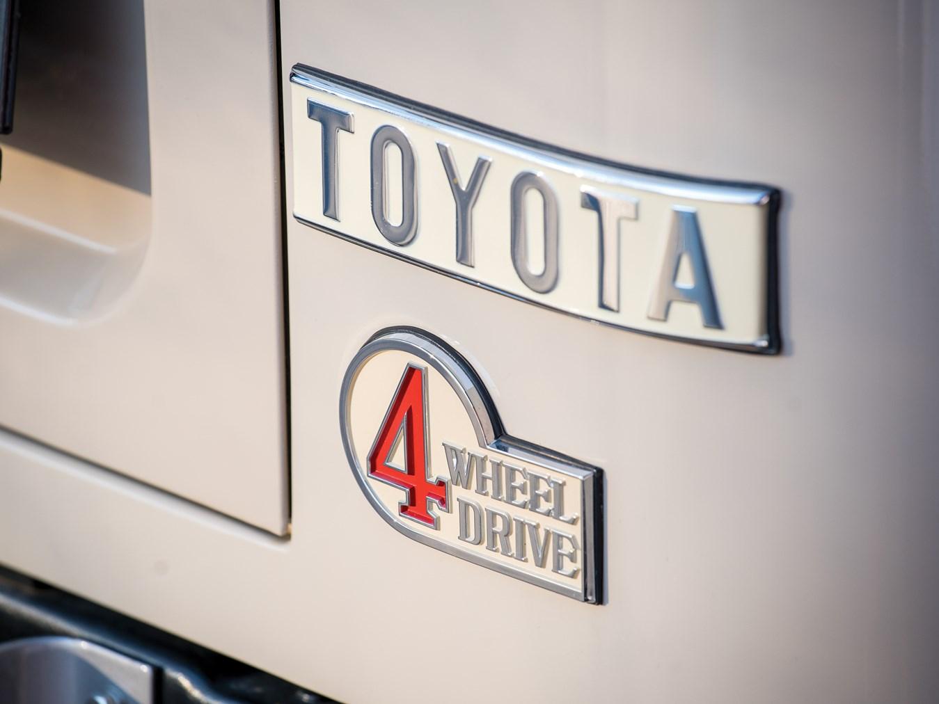 1978 Toyota FJ40 Land Cruiser badge detail