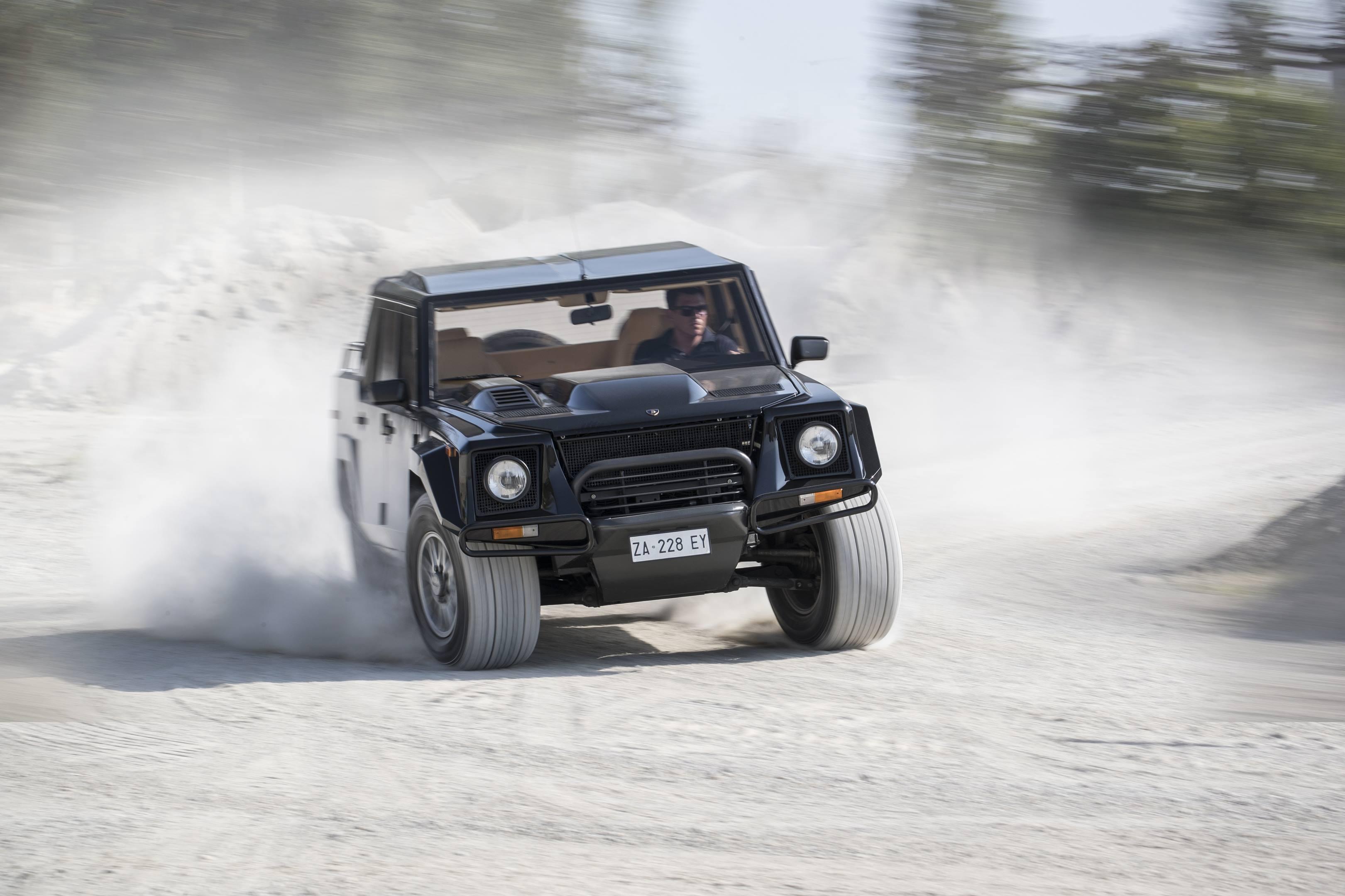 Lamborghini LM002 on dirt