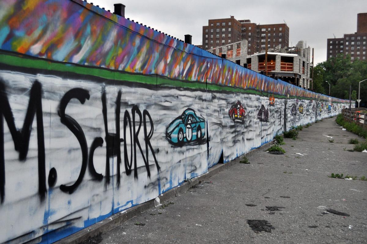 Mitchell Schorr Da Race NYC graffiti
