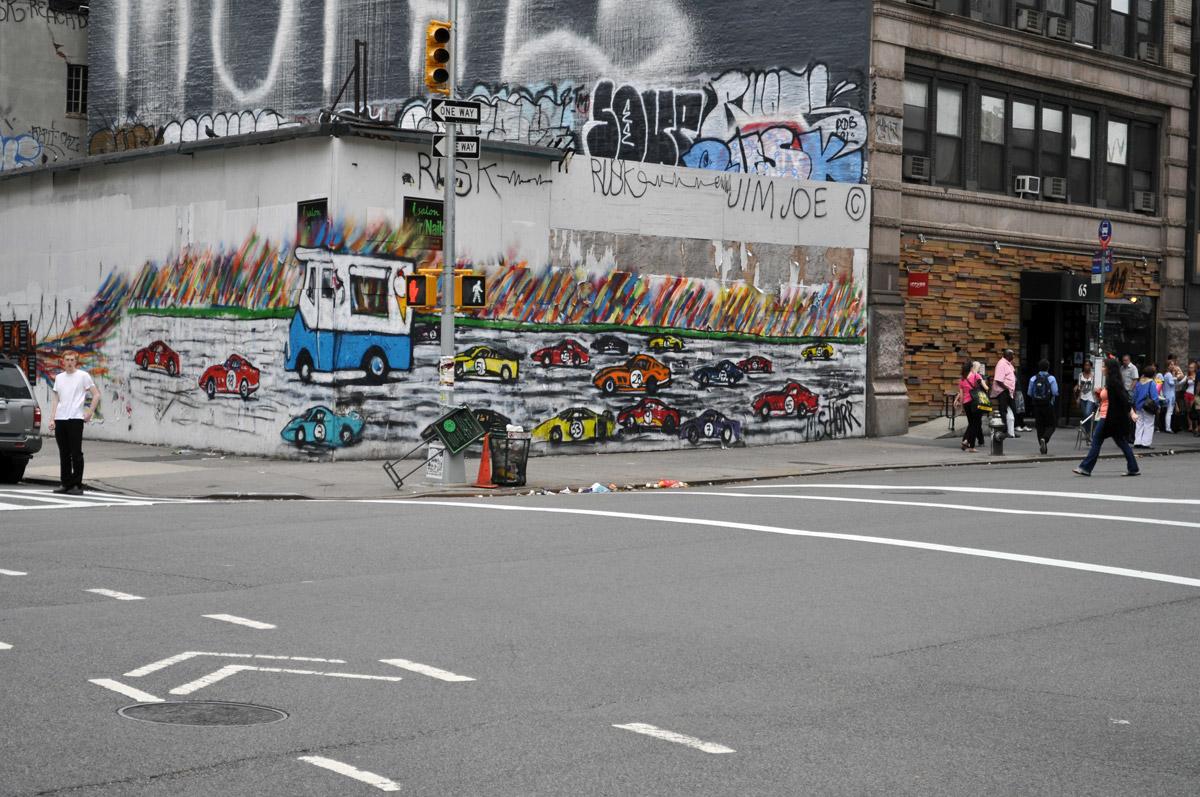 Mitchell Schorr Da Race NYC street corner