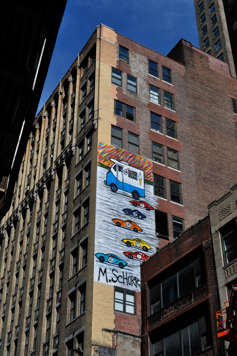 Mitchell Schorr Da Race NYC building