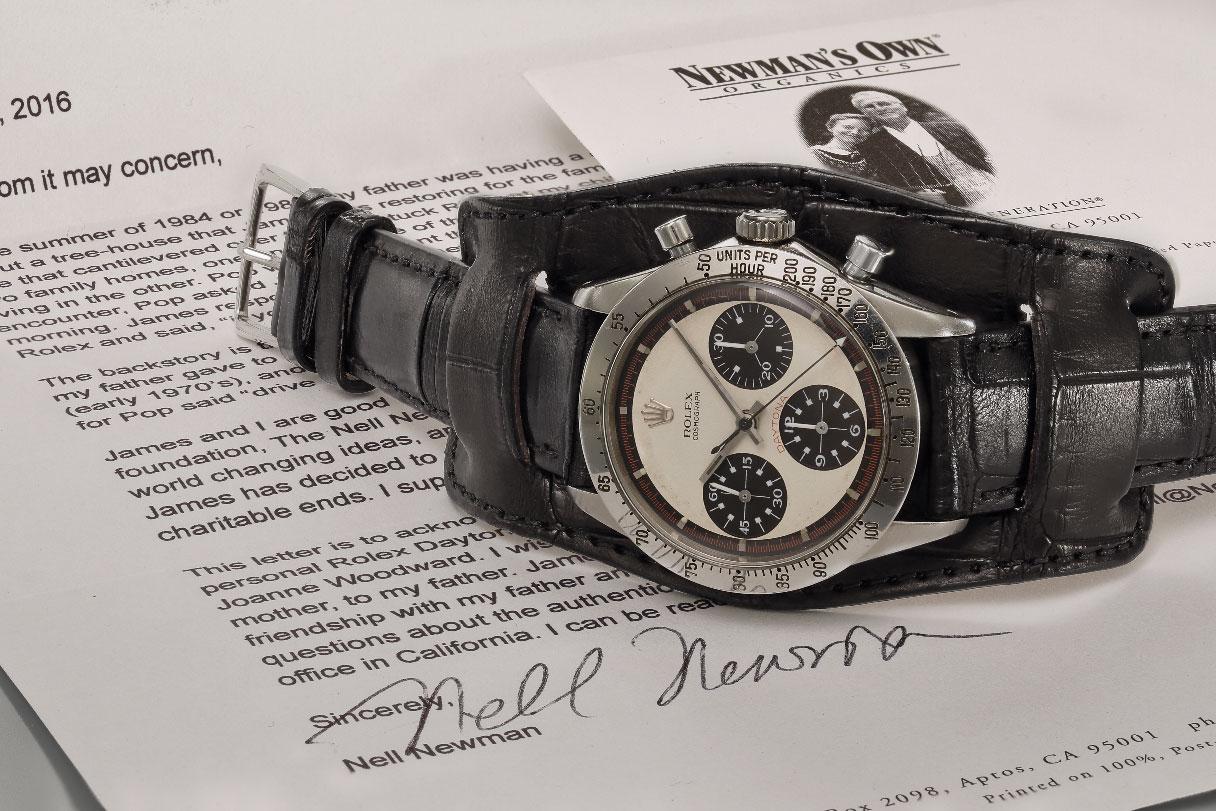 Paul Newman's 1968 Rolex Cosmograph Daytona with documentation