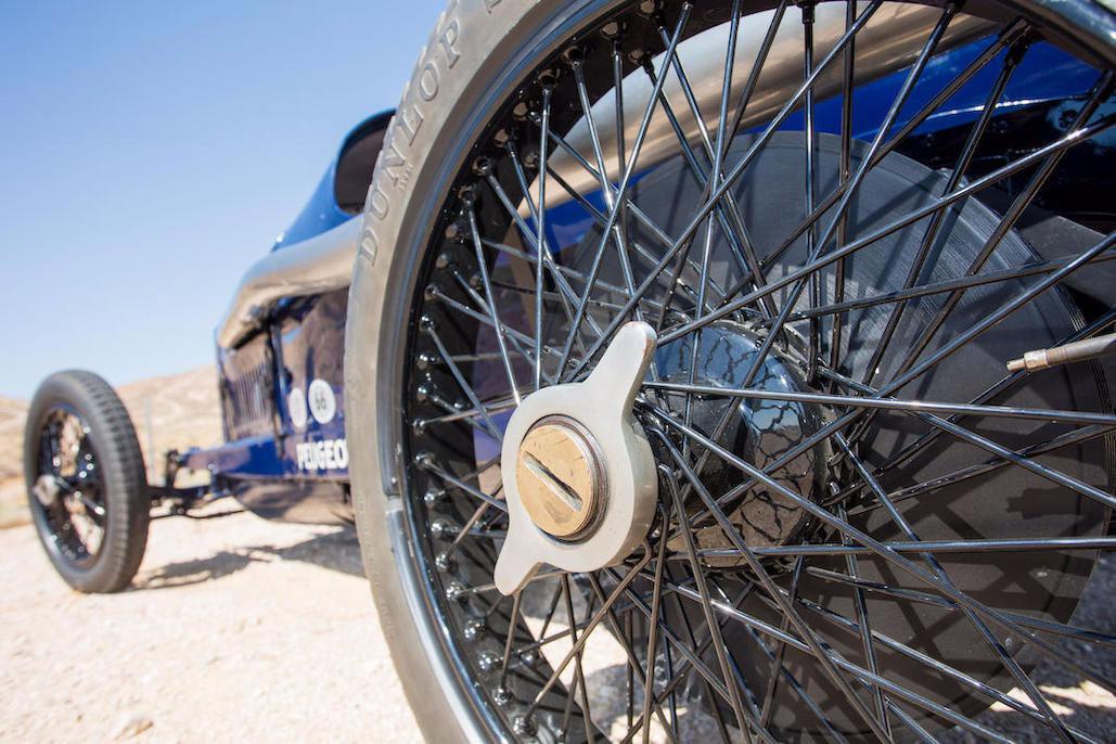 1914 Peugeot L45 Grand Prix wheel detail