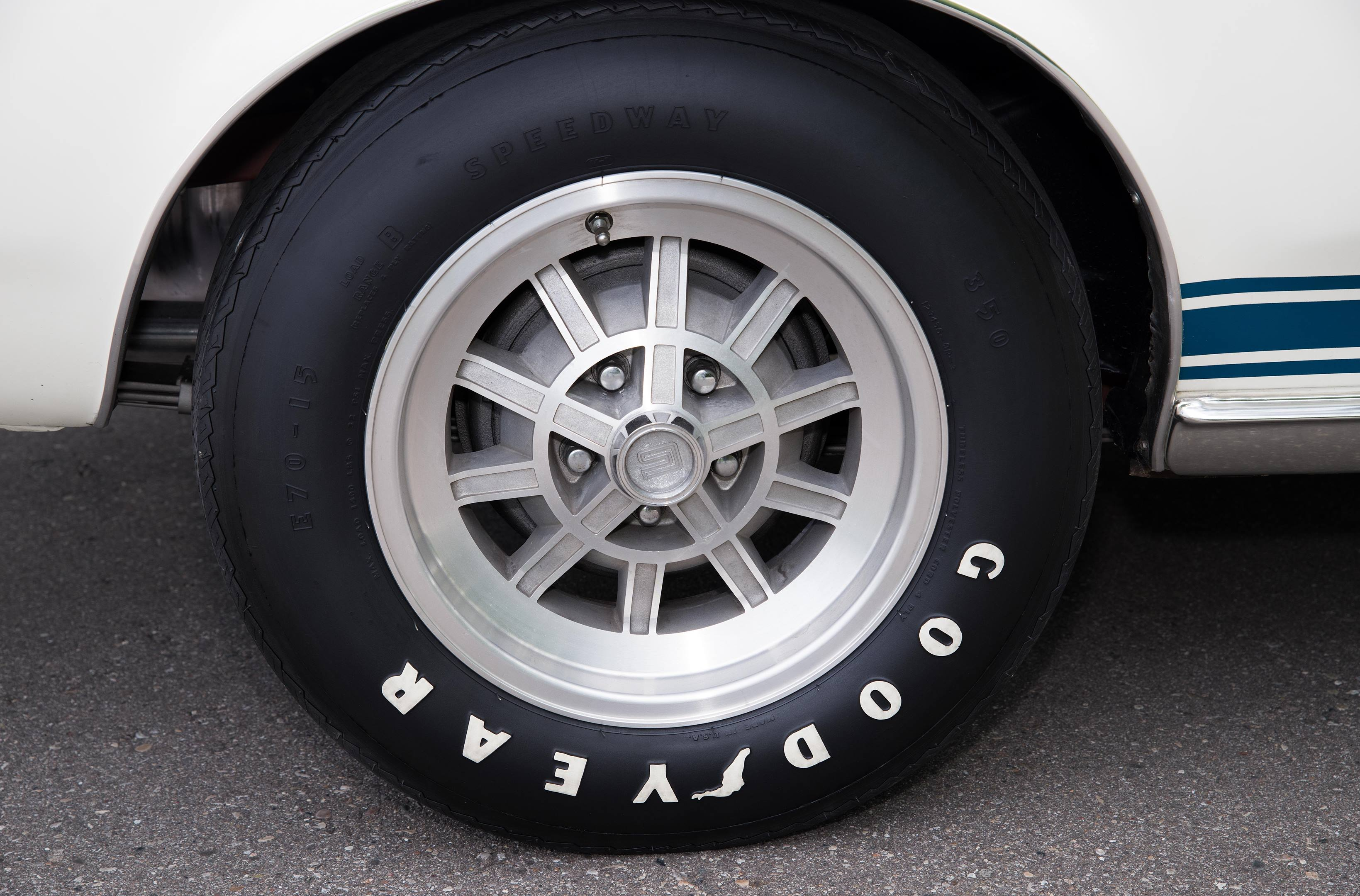 The original wheels and Coker reproduction tires are model correct.