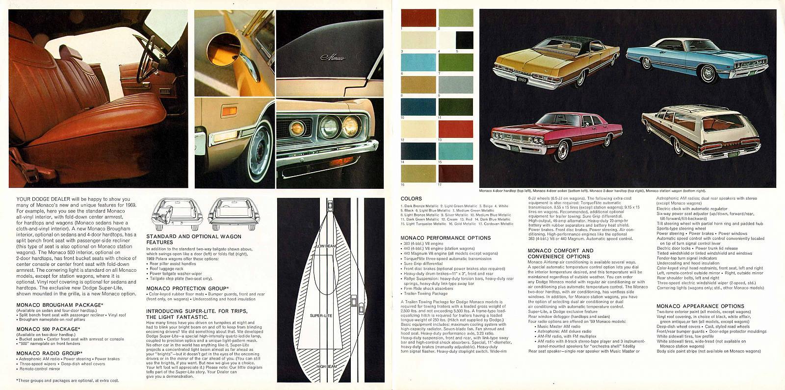 1969 Dodge Monaco ad promoting the Super-Lite