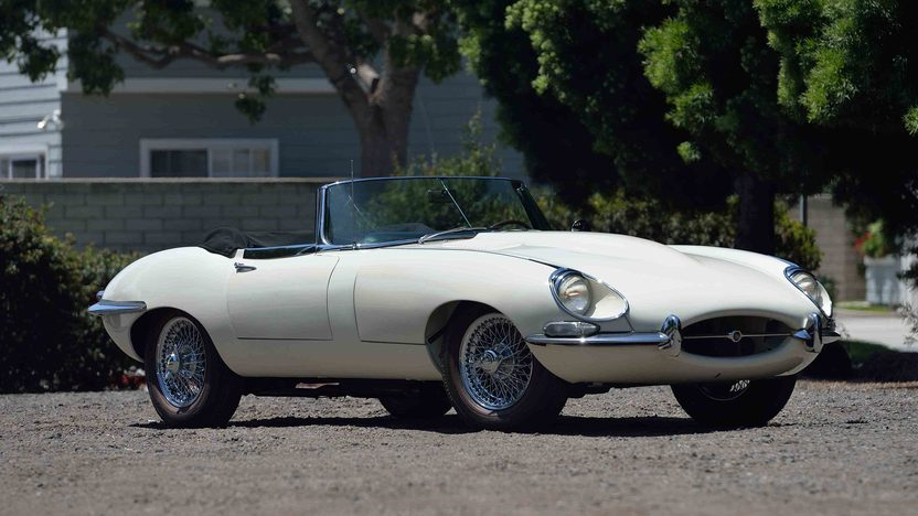 1967 Jaguar E-Type roadster white