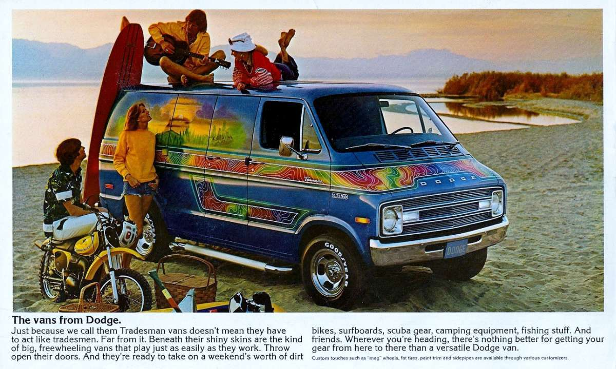 1970s dodge van advertisement