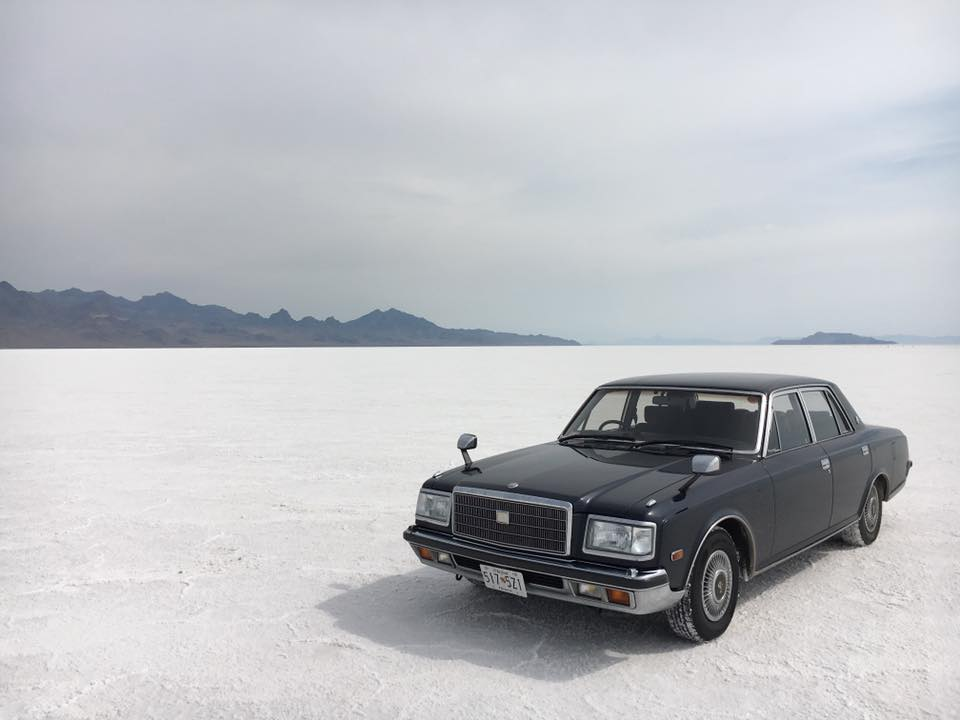 Toyota Century at Bonneville Salt Flats