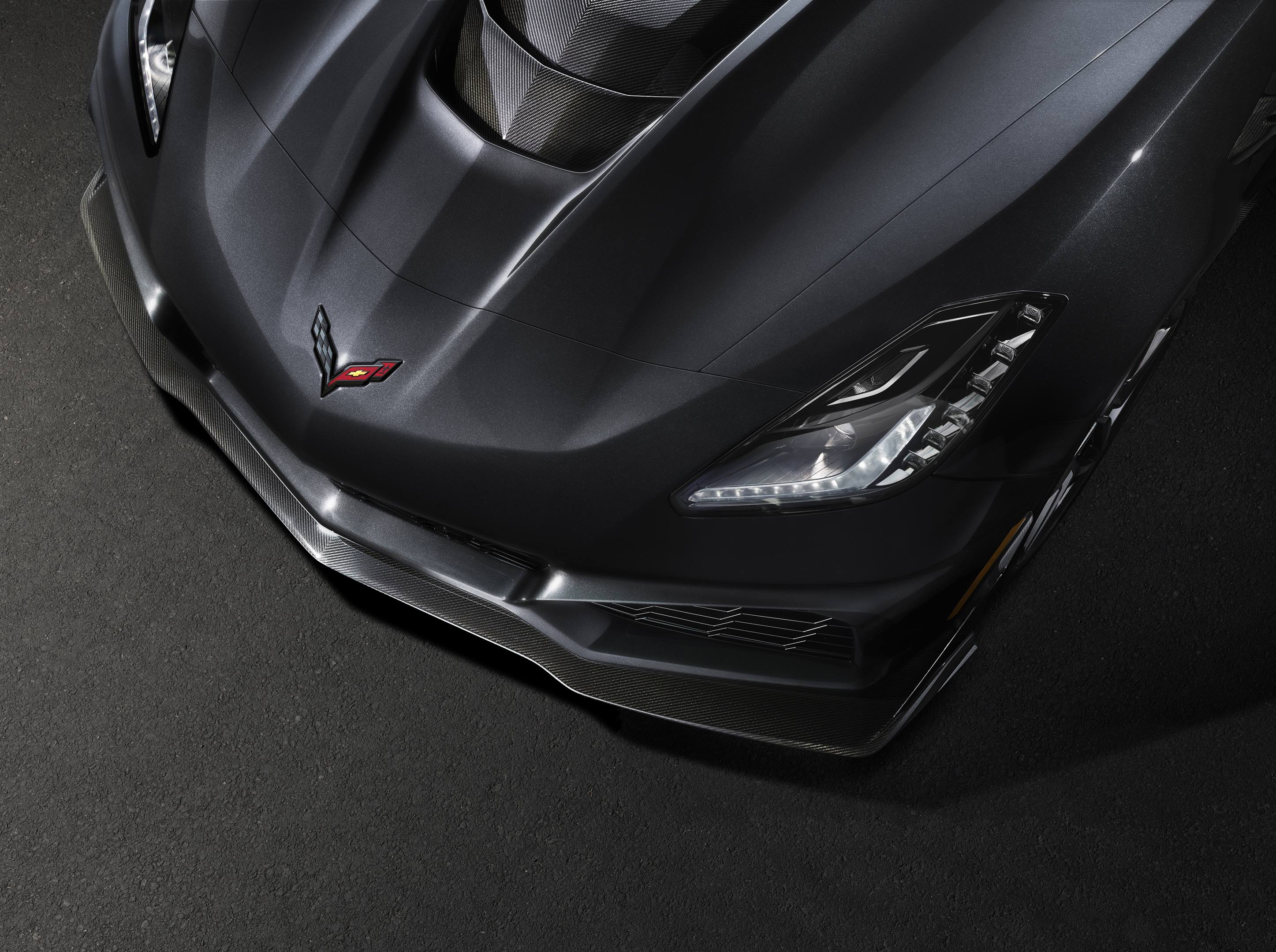 2019 Chevrolet Corvette ZR1 Front hood detail shot