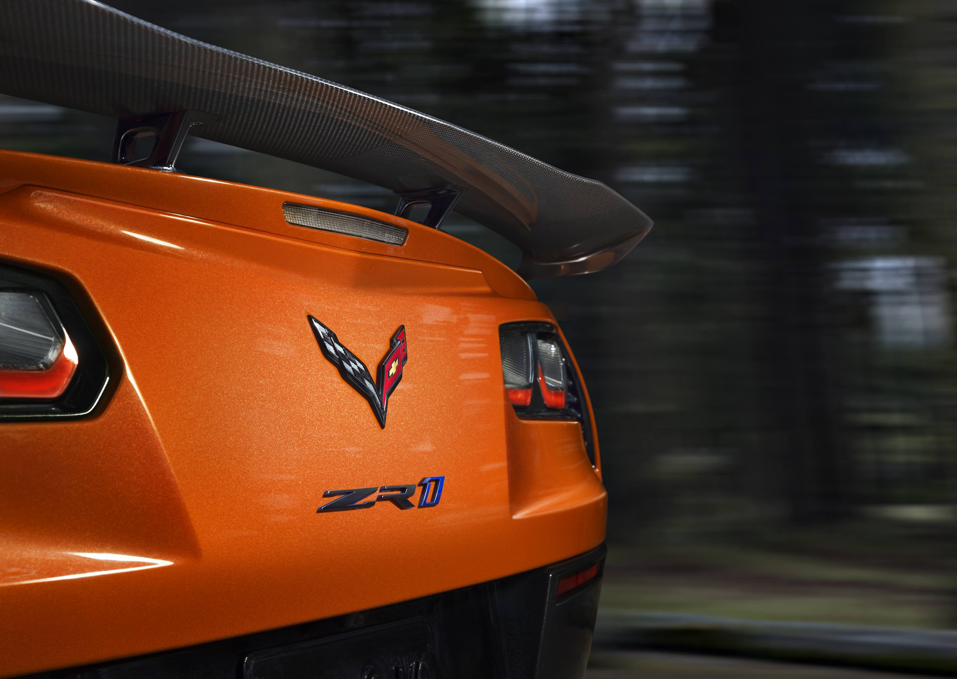 2019 Chevrolet Corvette ZR1 rear end detail shot