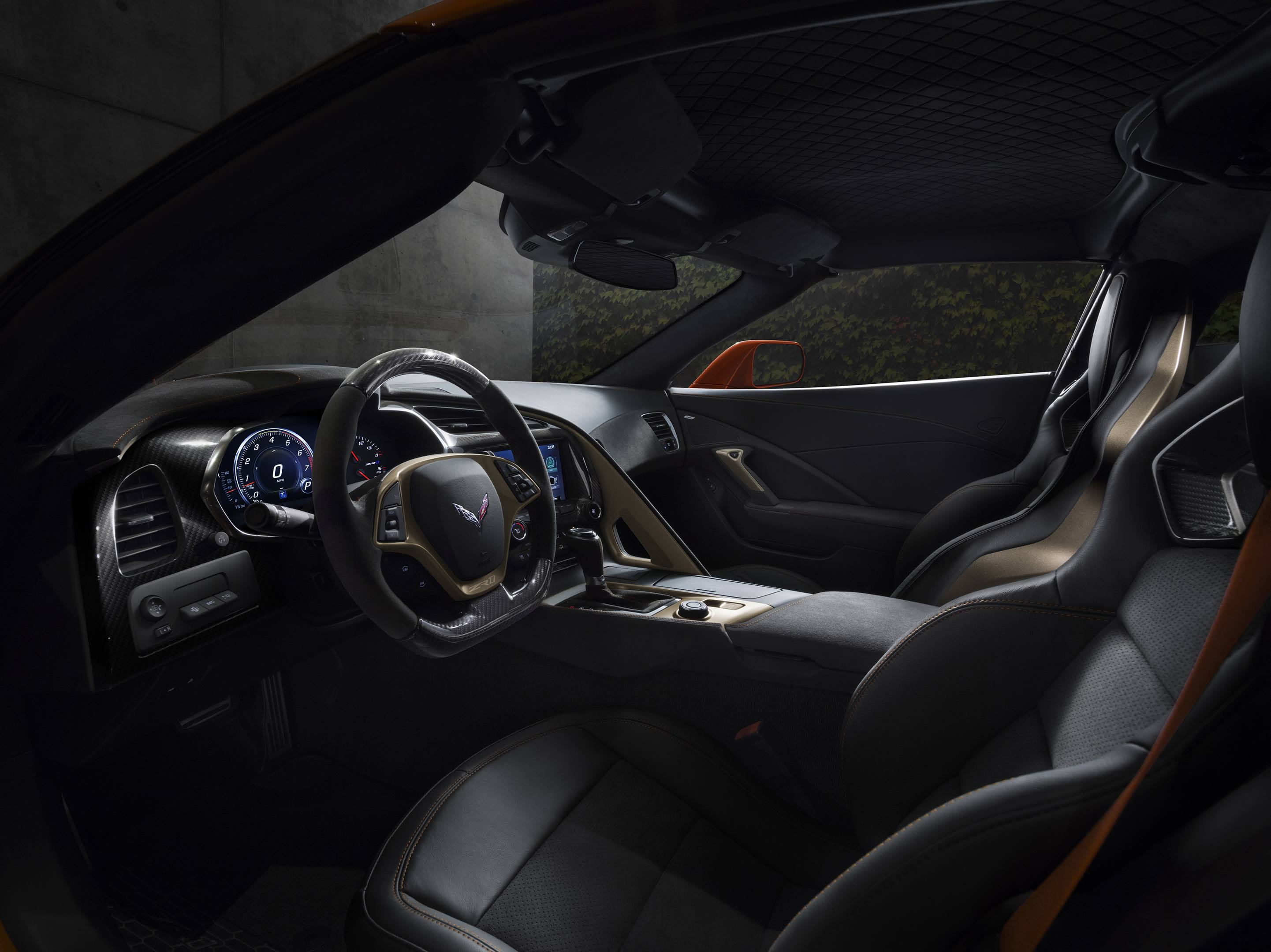2019 Chevrolet Corvette ZR1  Interior detail shot