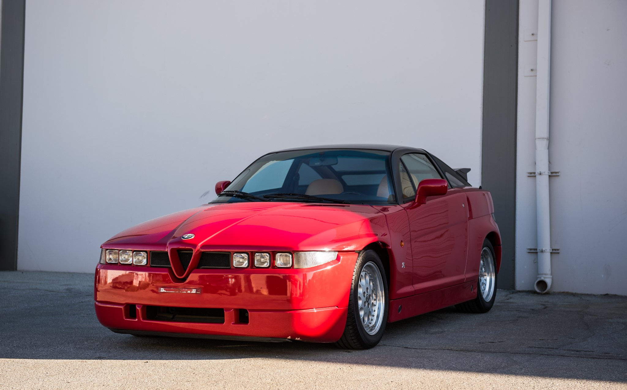 red 1991 Alfa Romeo SZ front 3/4