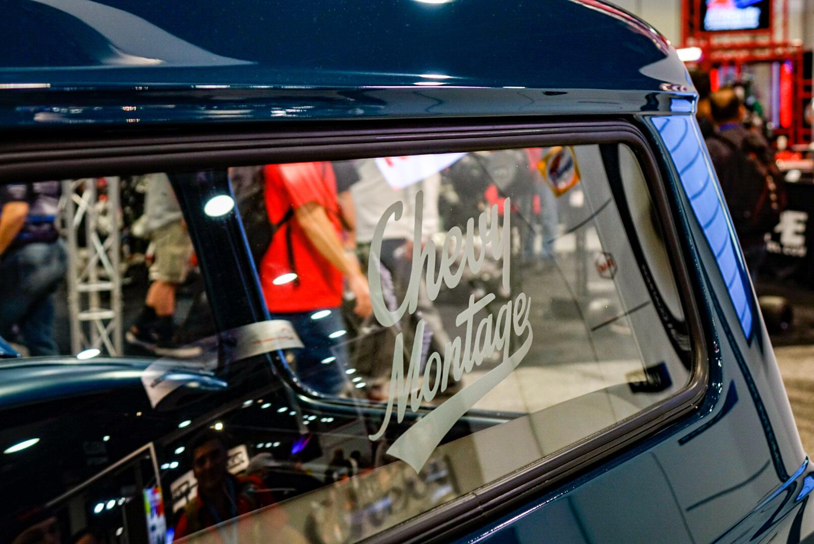 custom 1957 Chevy pickup window detail