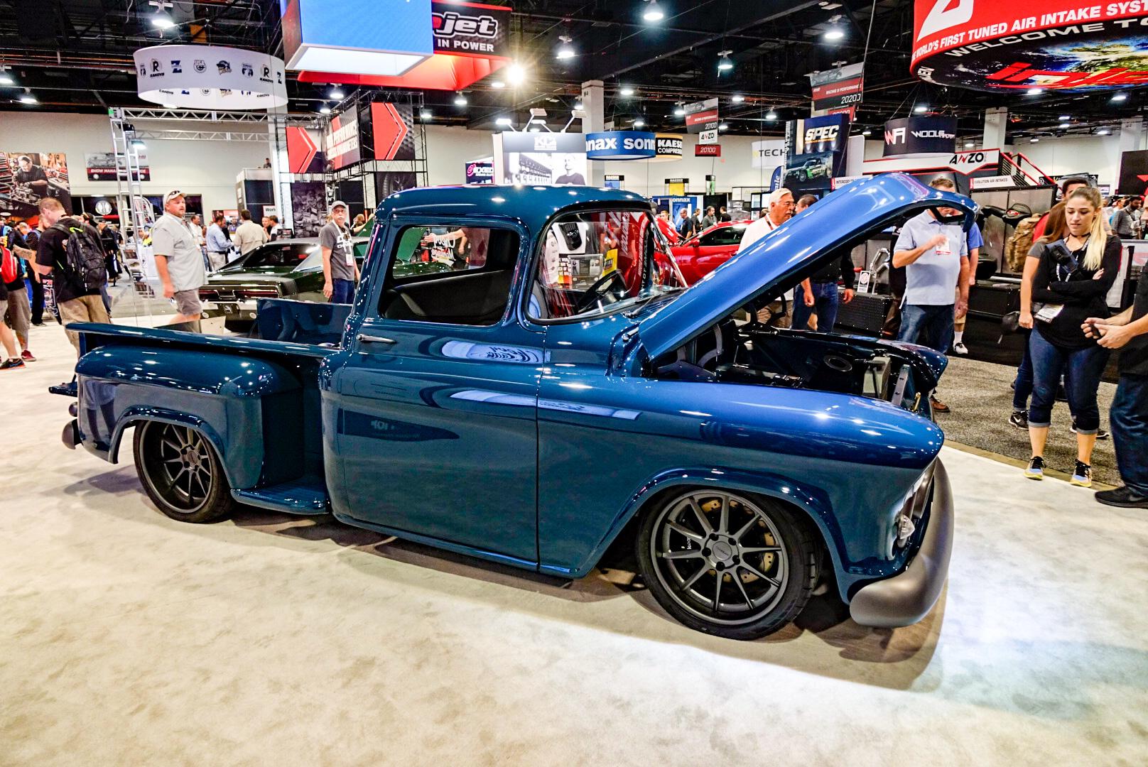 custom 1957 Chevy pickup profile