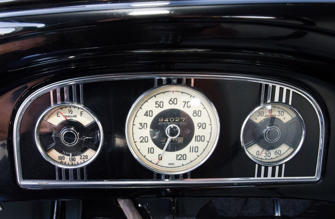 The odometer shows 94,027 miles. Krupinski believes that to be an accurate count.