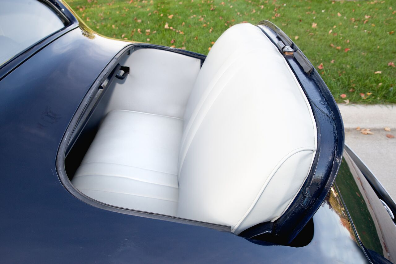 Leg room in the rumble seat is at a premium.