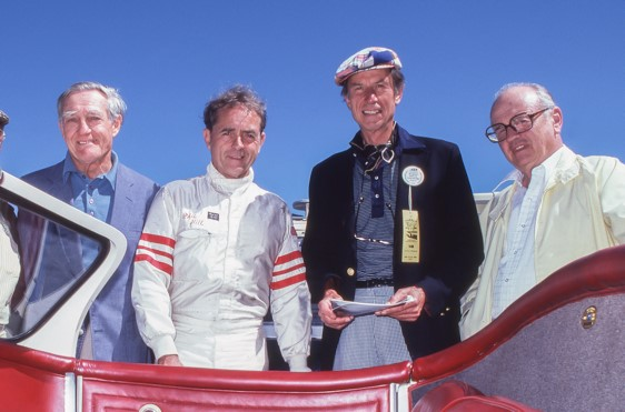 Briggs Cunningham, Phil Hill, John Fitch and Phil Walters (also known as Ted Tappet)
