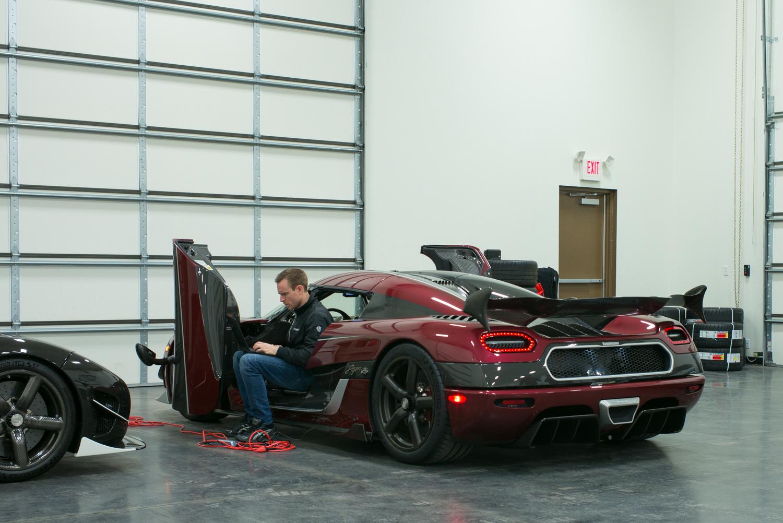 Koenigsegg factory driver Niklas Lilja