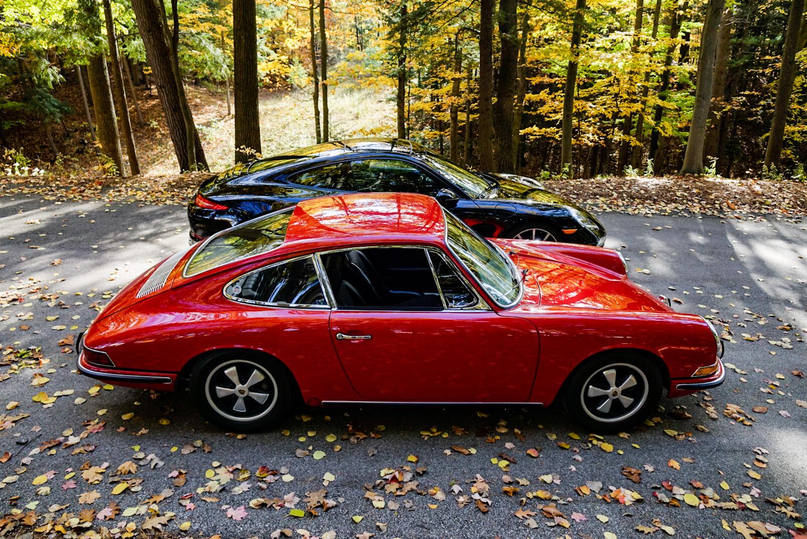 1967 Porsche 911S and 2013 Porsche 911 Carrera 4S profile