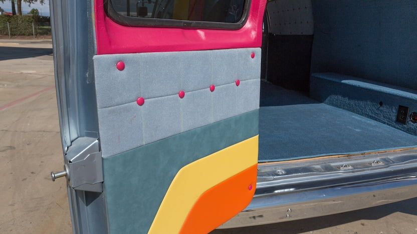 1990 Ford Custom Van rear door detail
