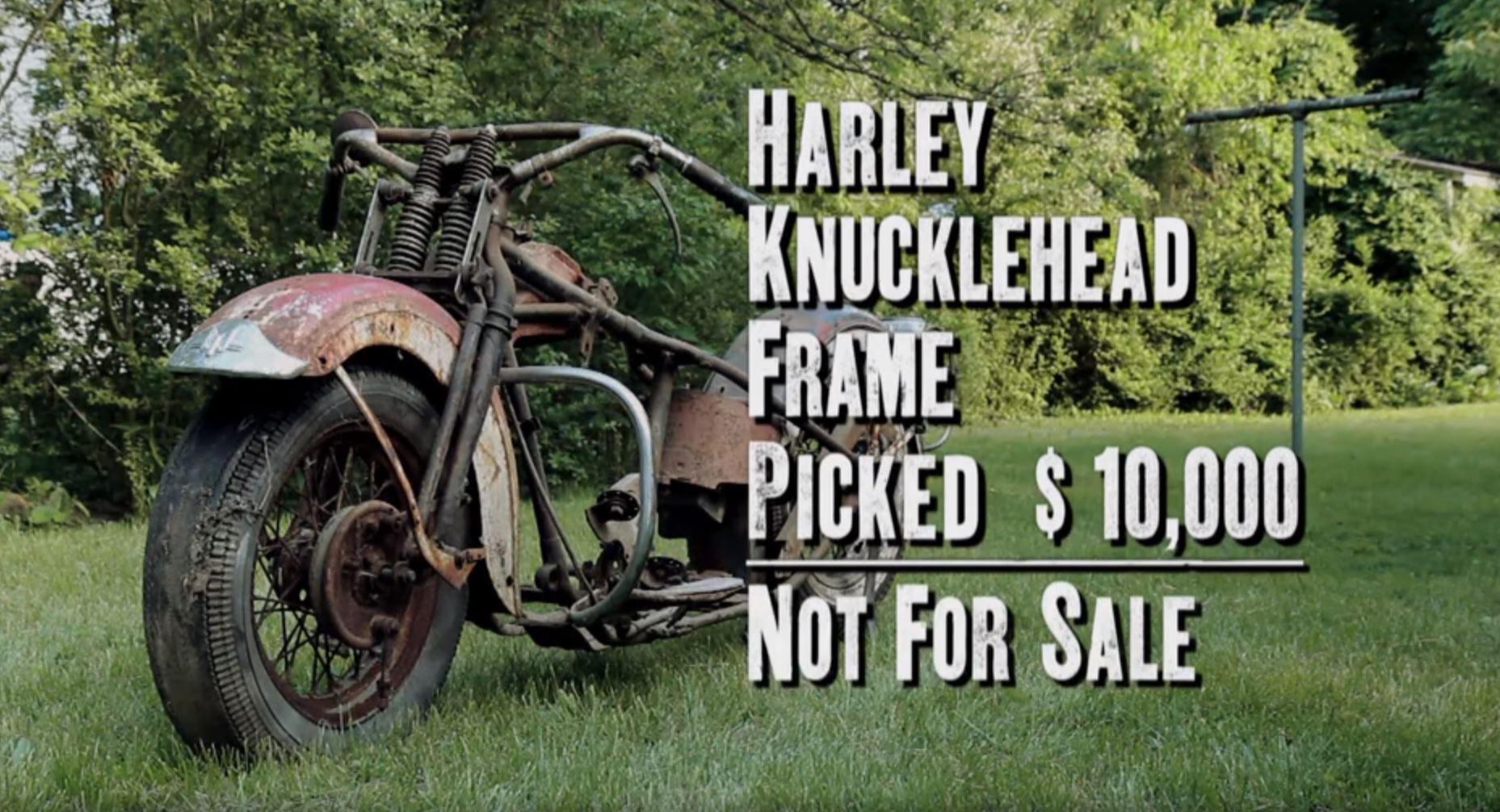1938 Harley knucklehead frame American Pickers