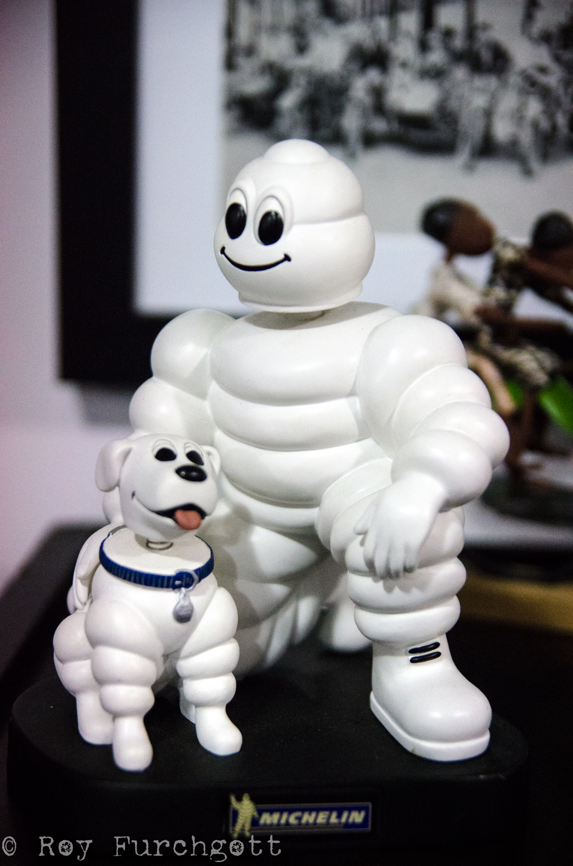 Who knew Bibendum—a.k.a. the Michelin Man—had a pet?