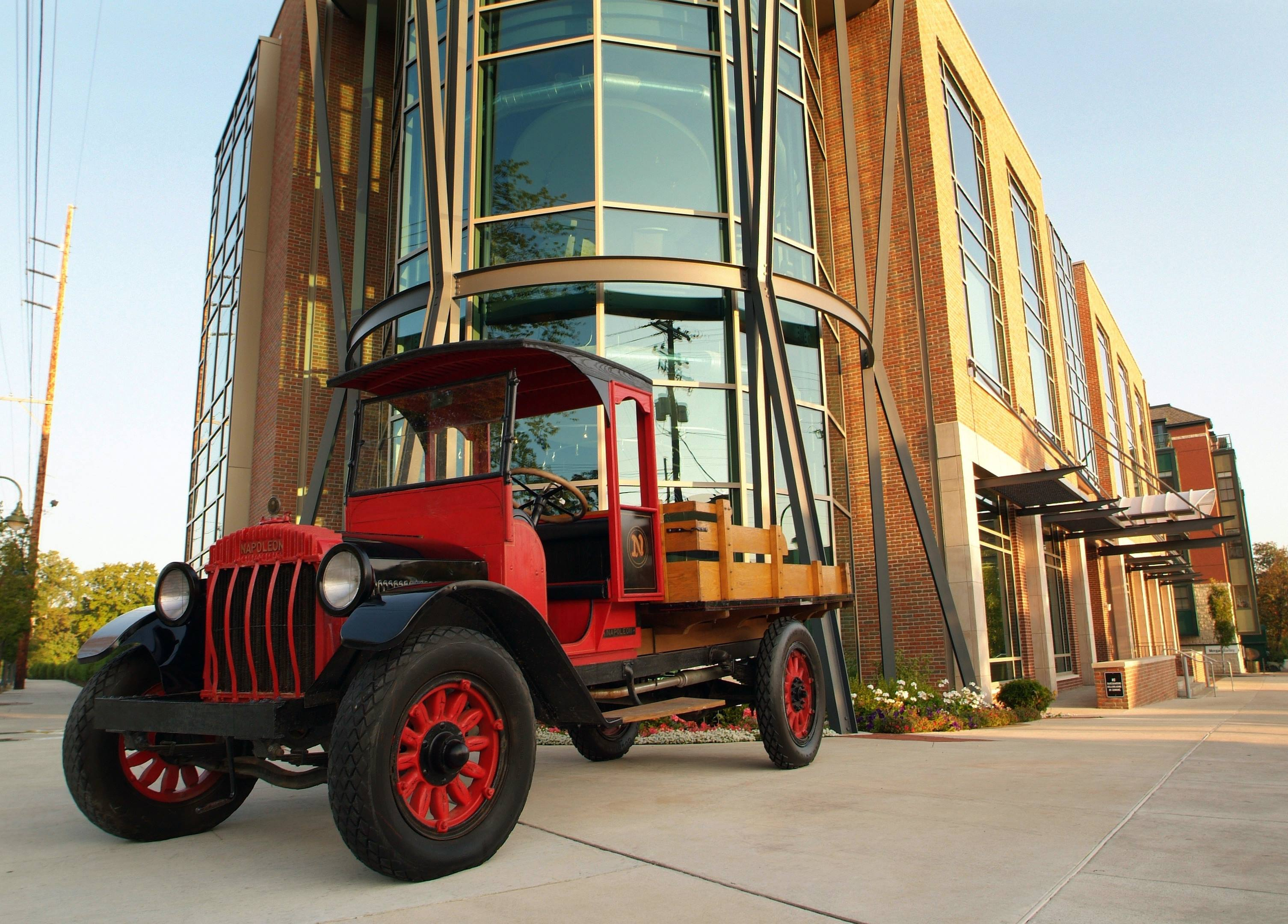 1919 Napoleon truck in front of Hagerty headquarters