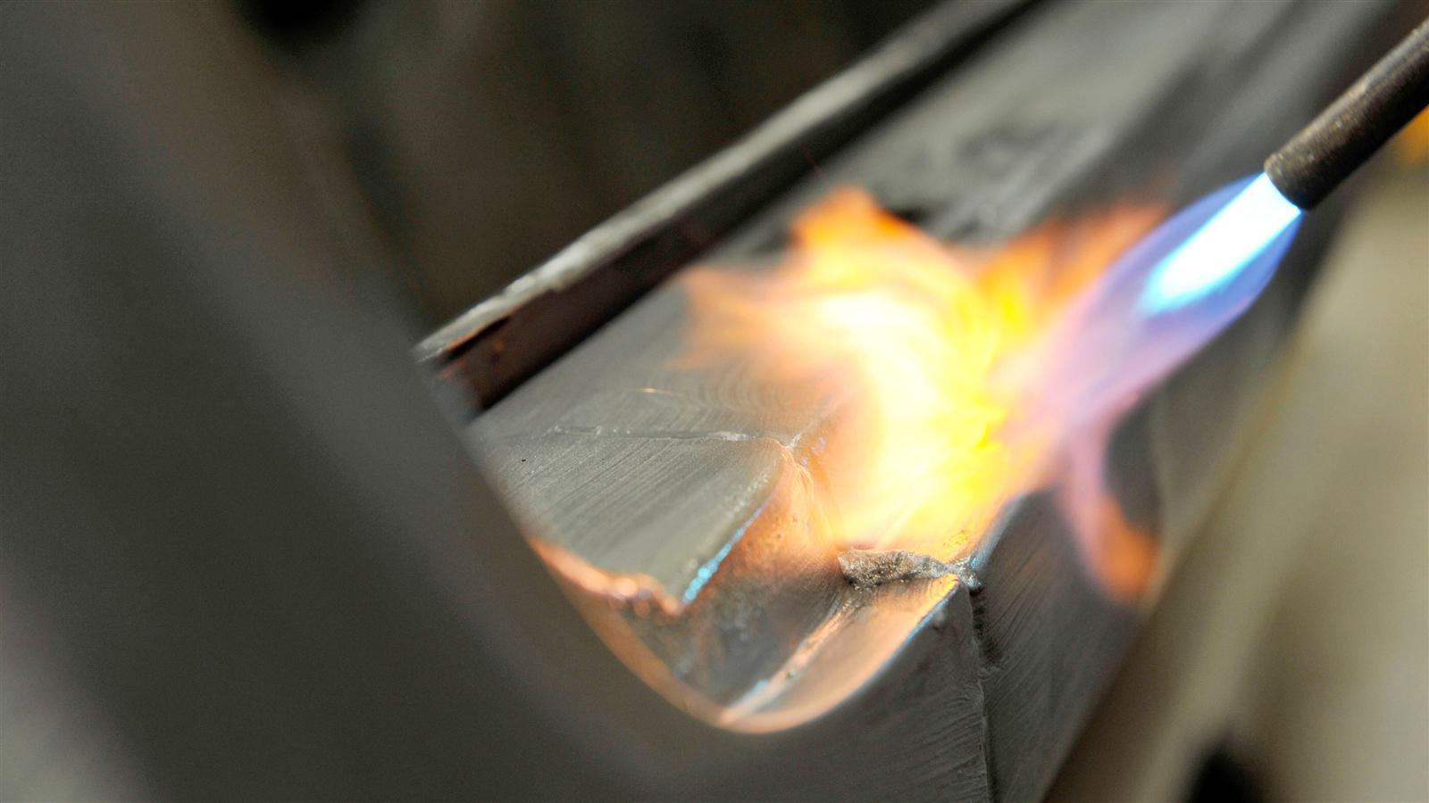 Porsche 911 Factory Restoration fire metal work