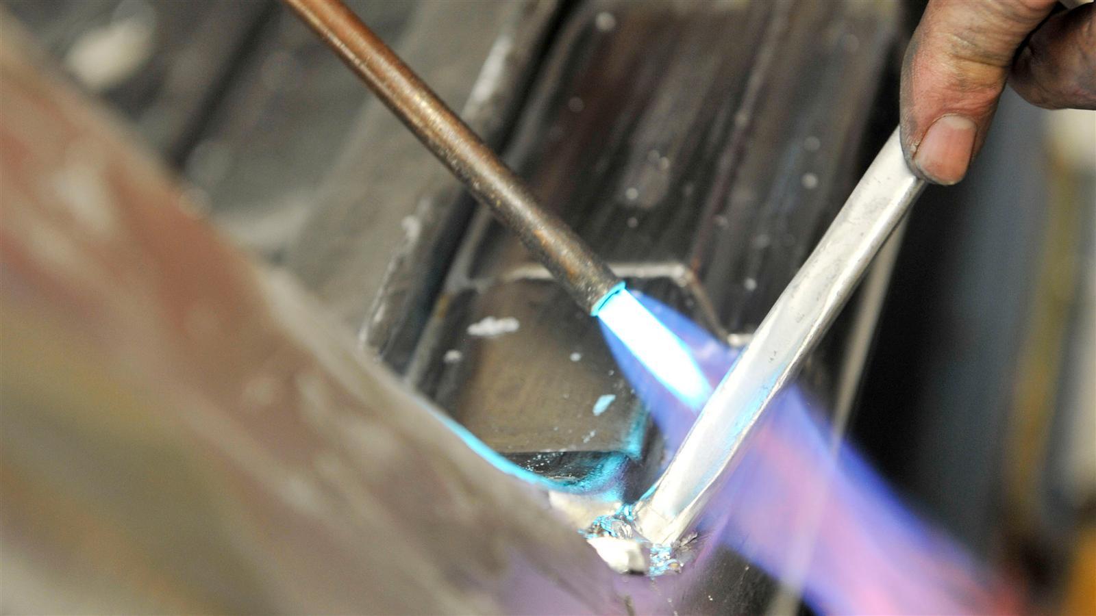 Porsche 911 Factory Restoration metal welding