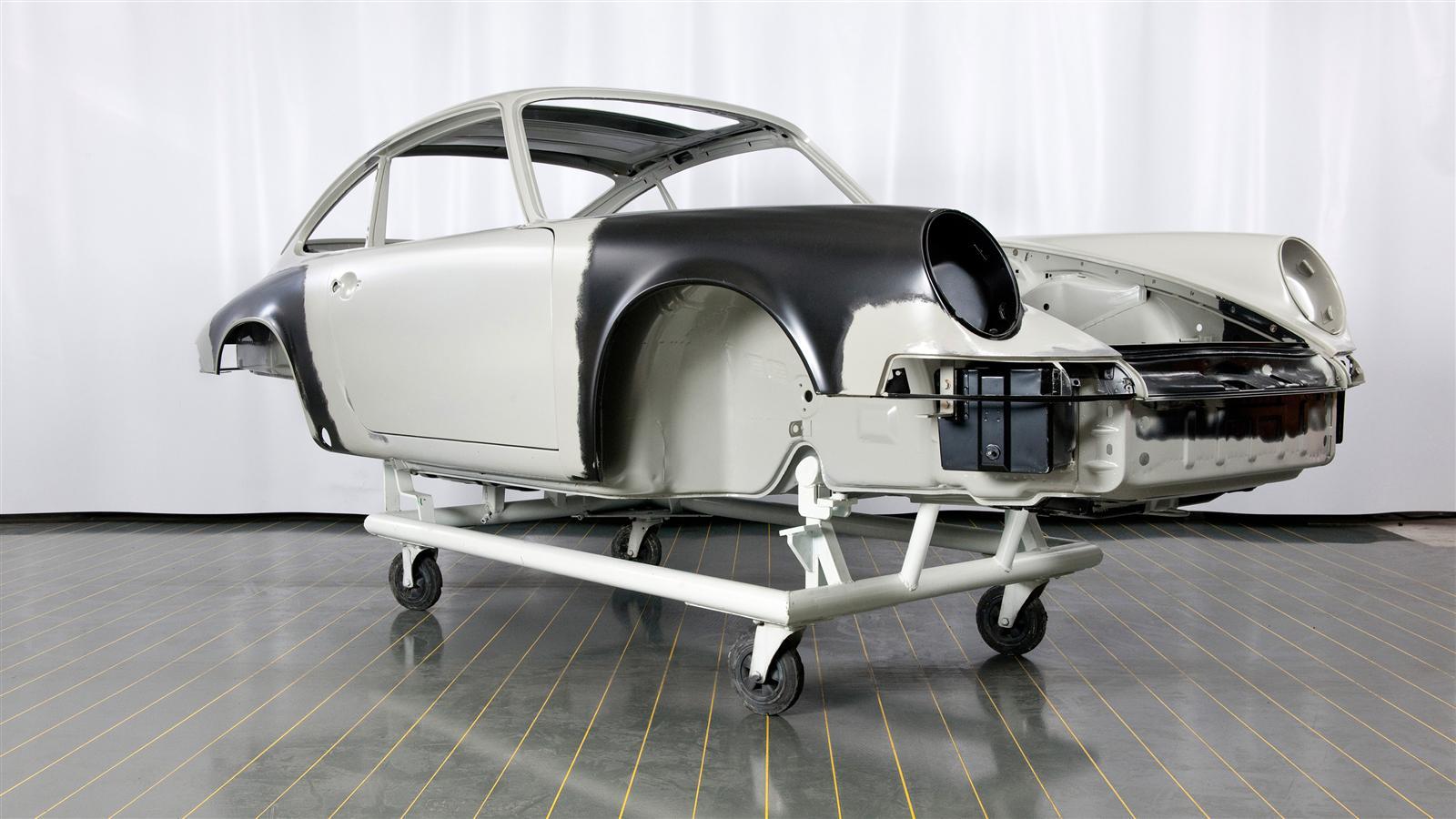 Porsche 911 Factory Restoration paint prep