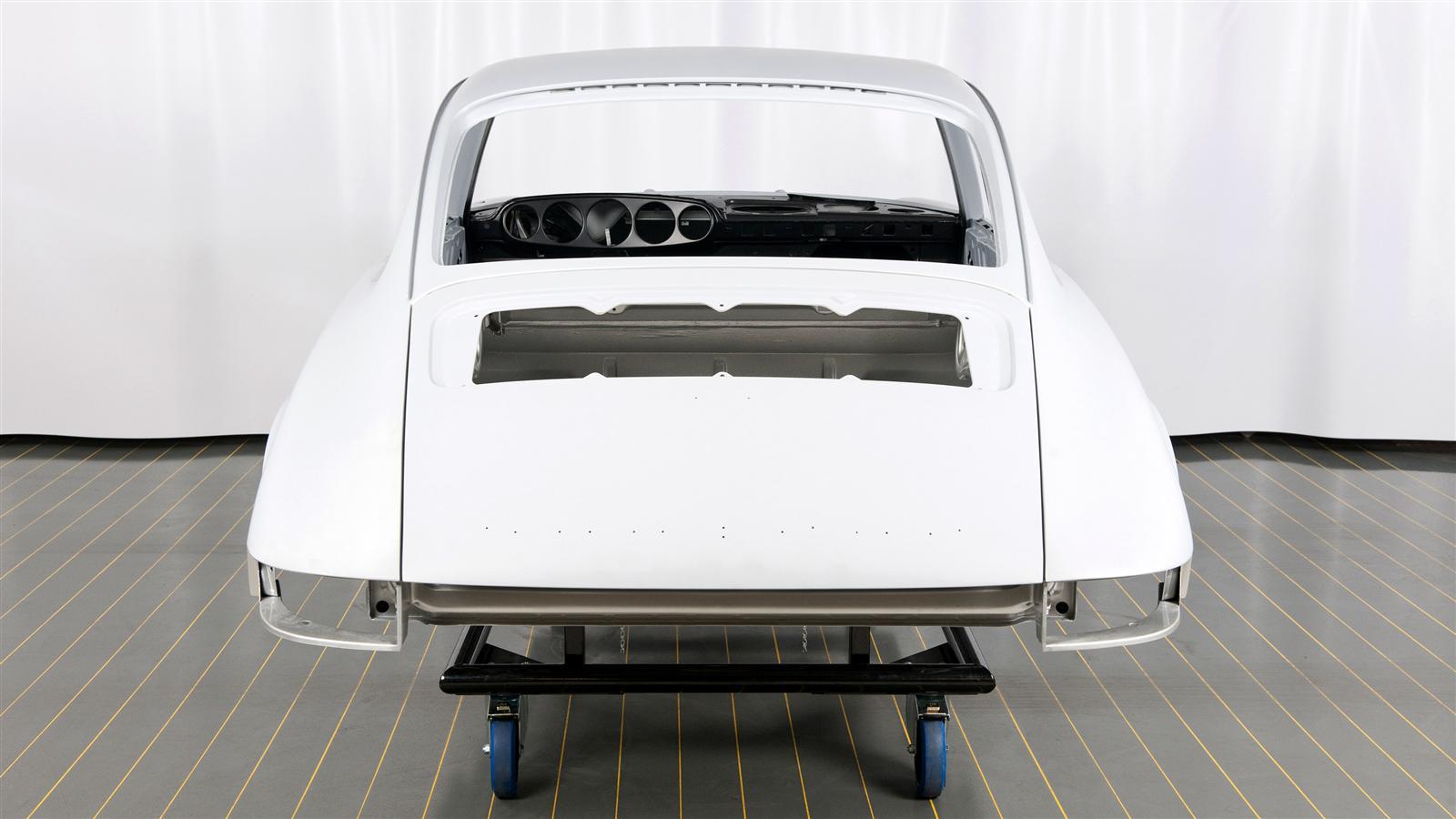 Porsche 911 Factory Restoration rear paint