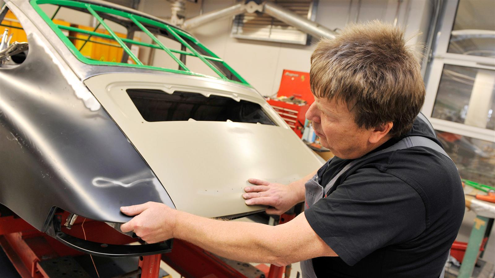 Porsche 911 Factory Restoration trunk work