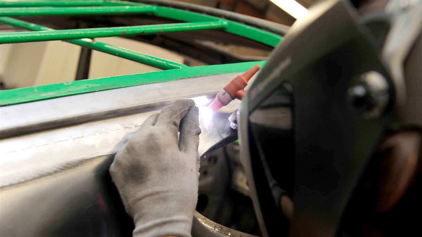 Porsche 911 Factory Restoration body welding